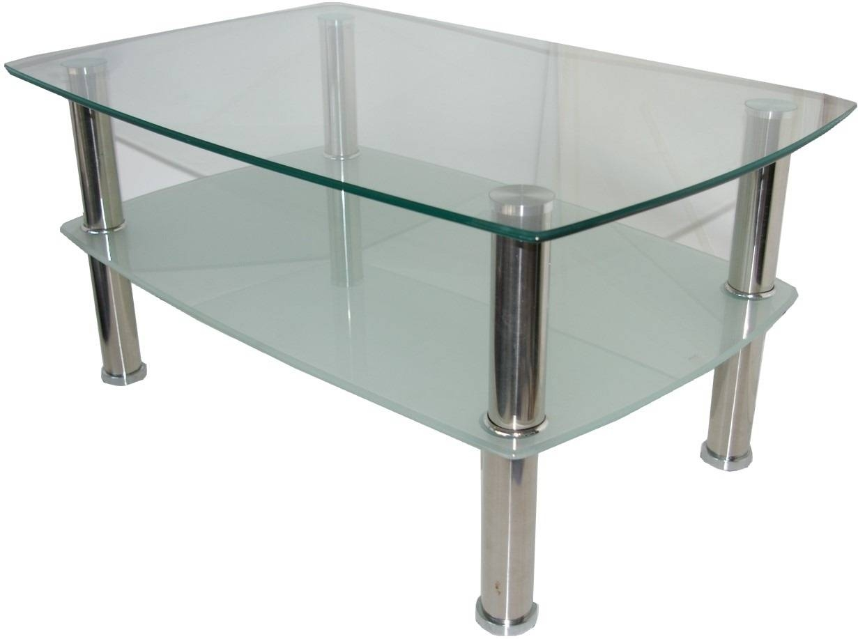 Coffee Table. Awesome Glass And Chrome Coffee Table Designs regarding Rectangle Glass Chrome Coffee Tables (Image 8 of 30)