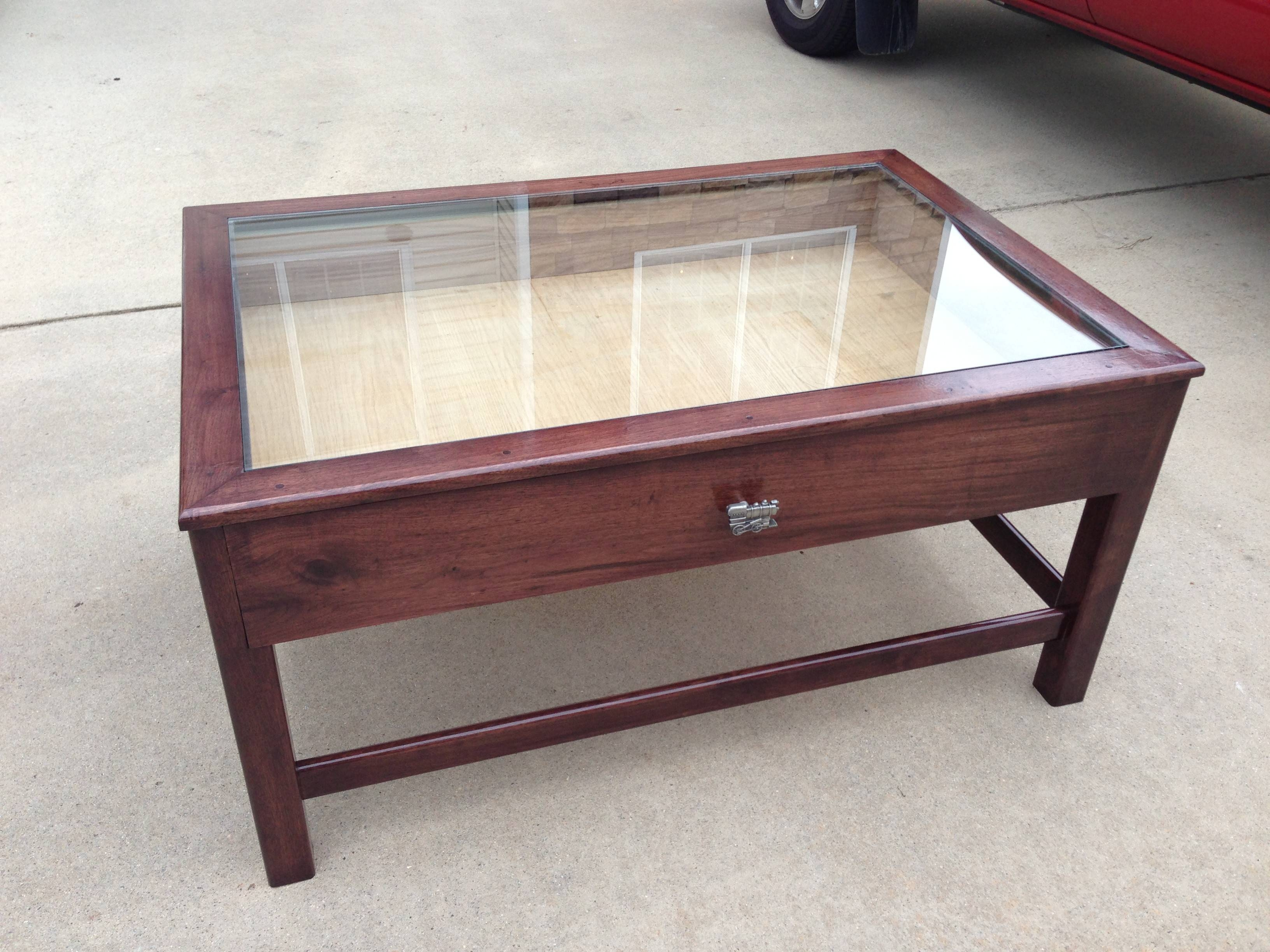 30 Best Ideas Of Coffee Tables With Gl Top Display Drawer