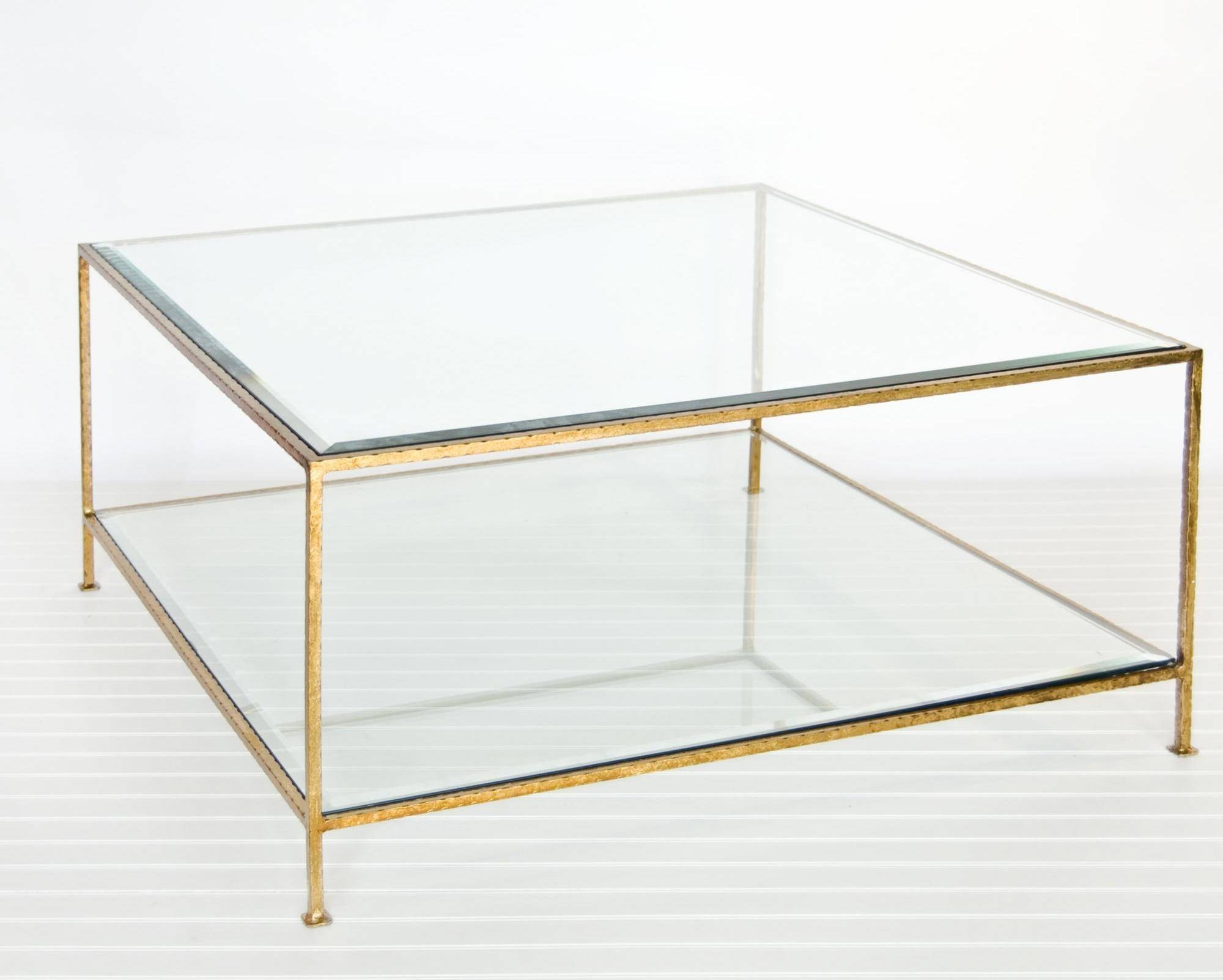 Coffee Table. Awesome Gold Coffee Table Ideas: Simple Square for Simple Glass Coffee Tables (Image 10 of 30)
