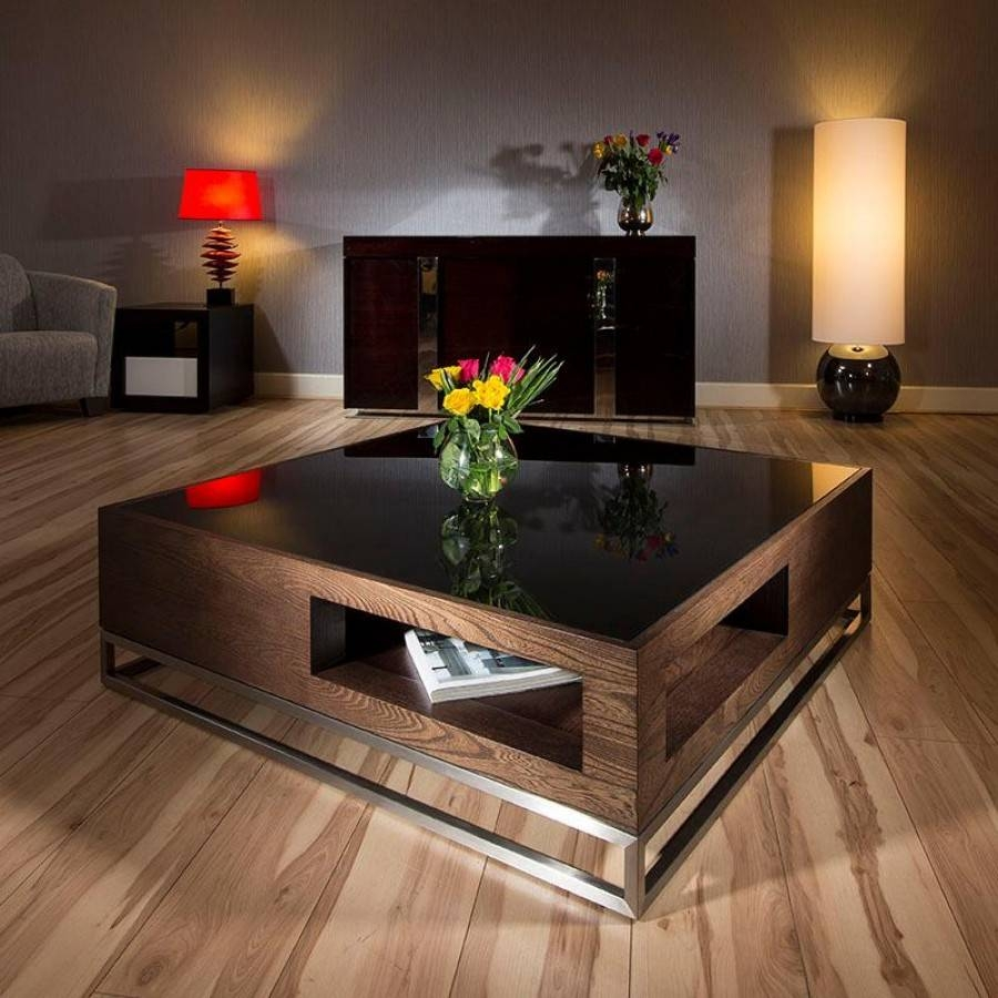 Coffee Table: Awesome Large Square Coffee Table Design Ideas inside Oversized Square Coffee Tables (Image 7 of 30)
