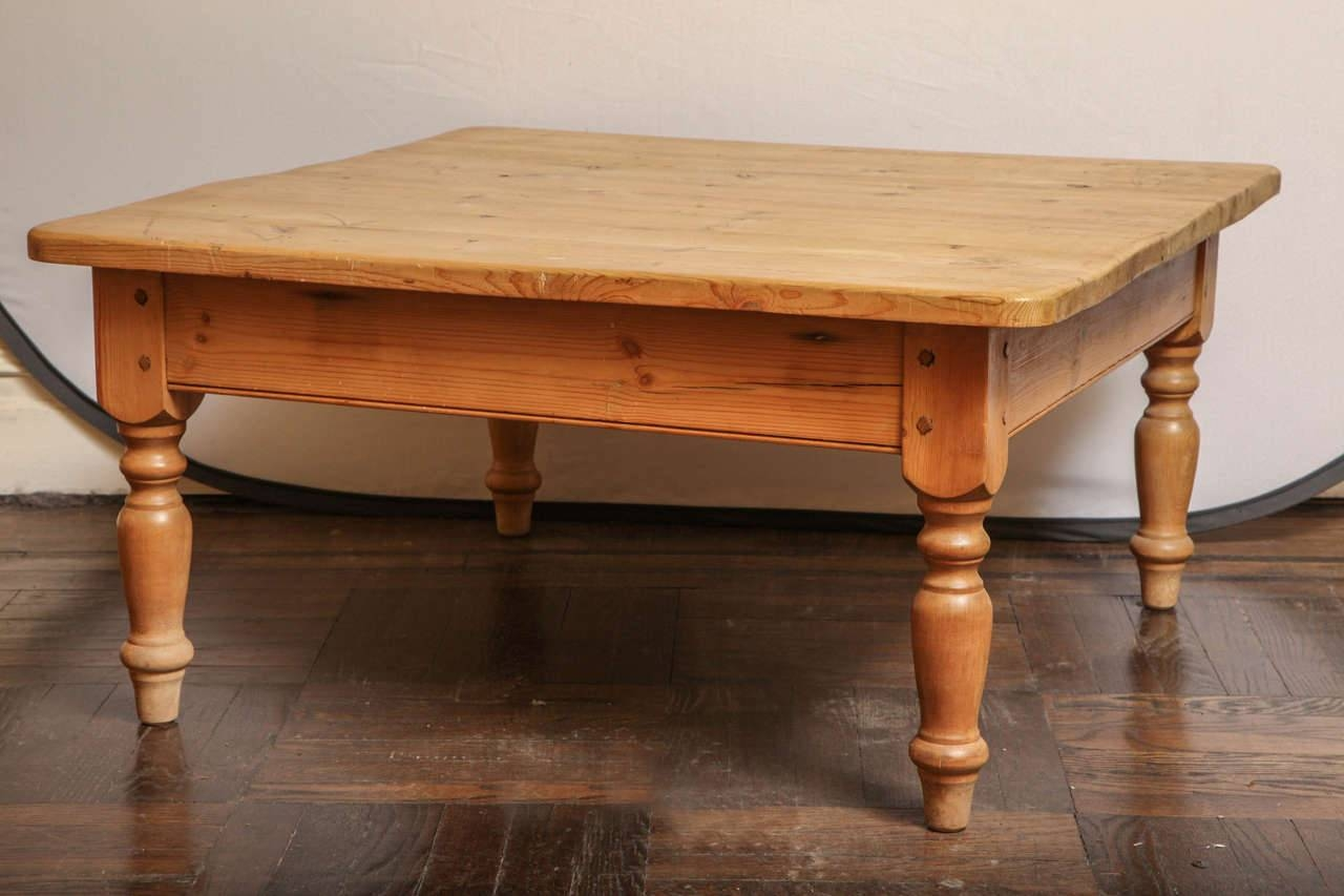 Coffee Table. Awesome Pine Coffee Table Designs: Cool Brown Square regarding Pine Coffee Tables With Storage (Image 10 of 30)
