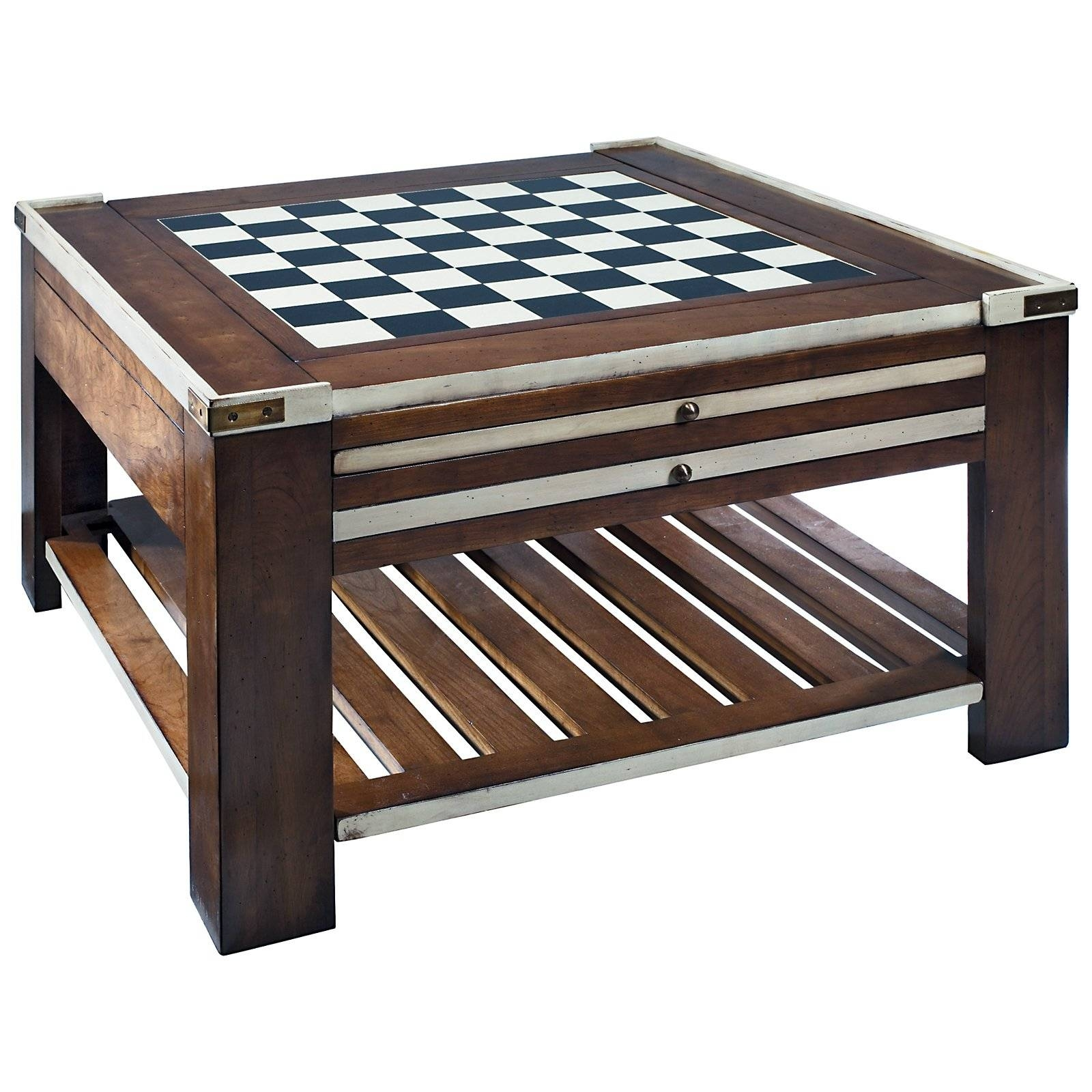 Coffee Table: Beautiful Chess Coffee Table Designs Coffee Table with regard to Square Dark Wood Coffee Table (Image 5 of 30)