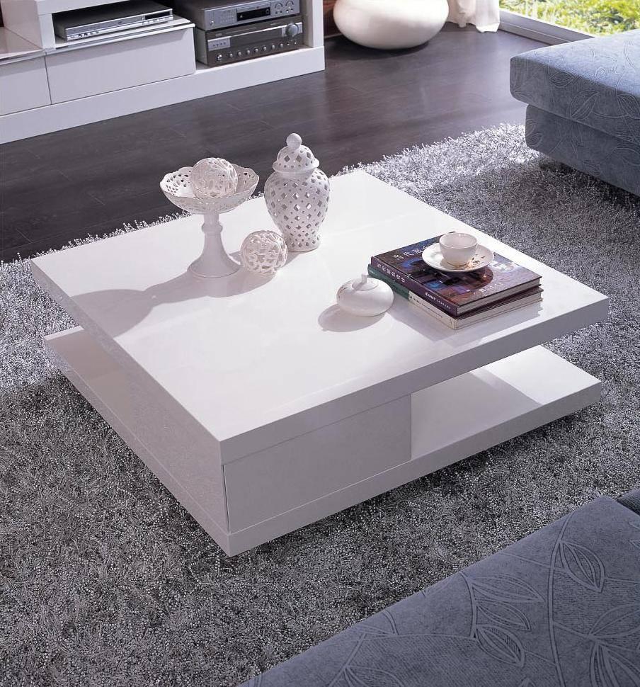 Coffee Table: Beautiful Modern Square Coffee Table Designs 48 intended for White Square Coffee Table (Image 6 of 30)