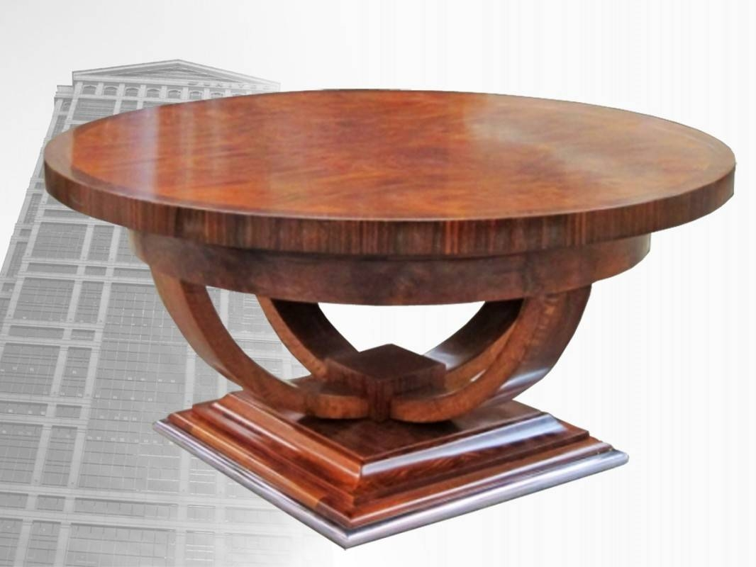 Coffee Table: Best Art Deco Coffee Table Ideas Art Deco Round throughout Art Coffee Tables (Image 18 of 30)