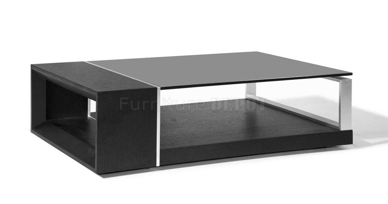 Coffee Table : Black Glass Top Coffee Table Kontrast Blacks Glass inside Black Coffee Tables (Image 9 of 30)