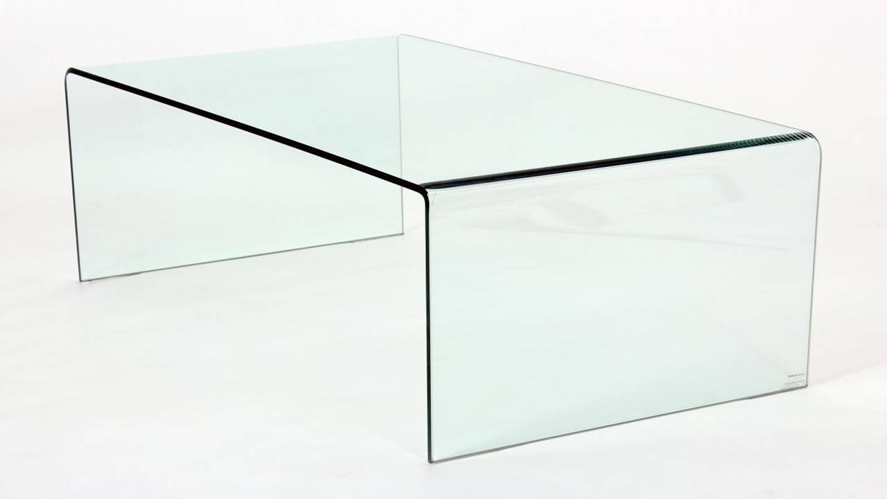 Coffee Table: Breathtaking Bent Glass Coffee Table Toronto Bent Intended For Transparent Glass Coffee Tables (Image 9 of 30)