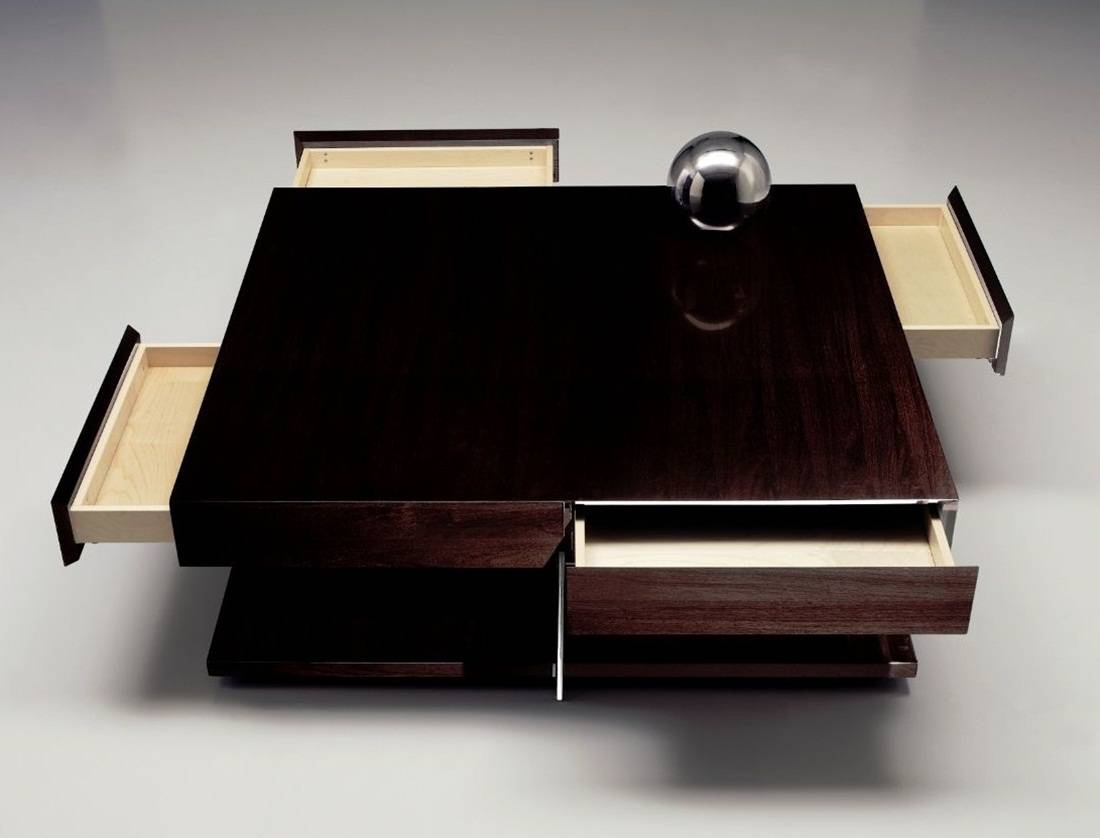 Coffee Table: Breathtaking Square Coffee Table With Storage Design In Square Coffee Tables With Storages (View 6 of 30)