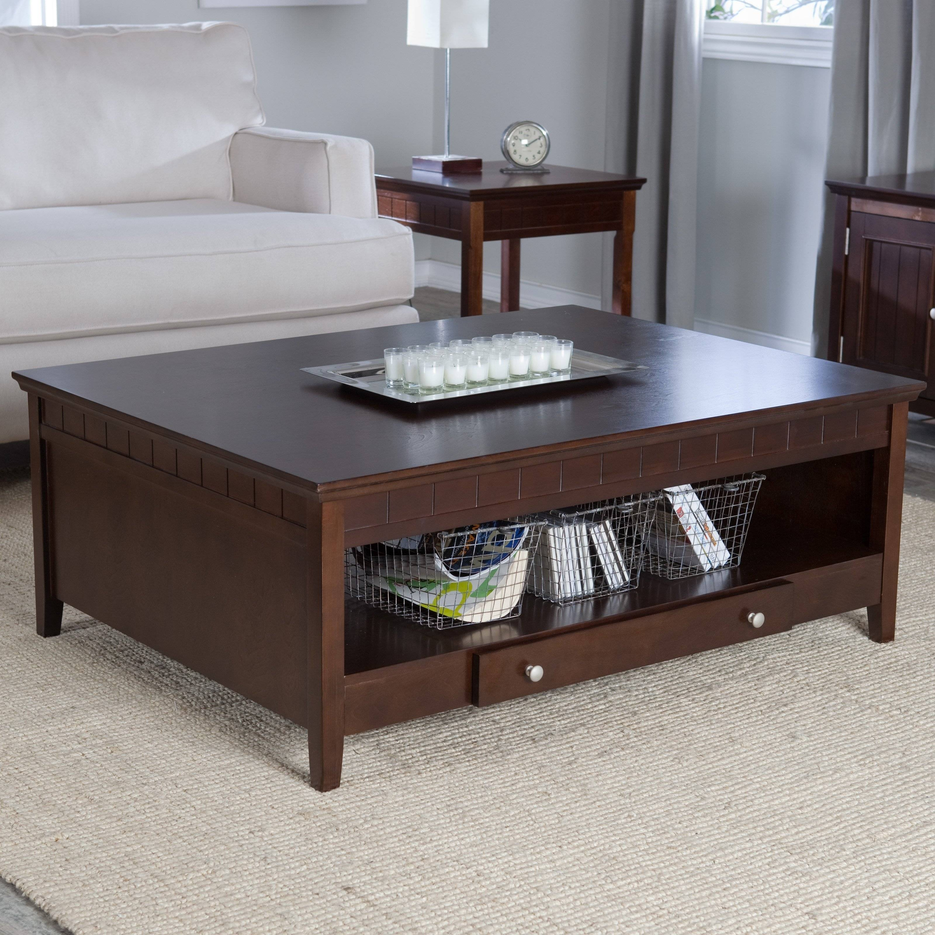 Marvelous 30 Best Collection Of Square Dark Wood Coffee Tables