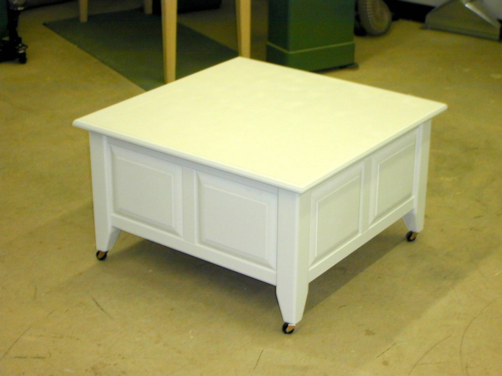 Coffee Table: Breathtaking Square Coffee Table With Storage Design regarding White Square Coffee Table (Image 8 of 30)
