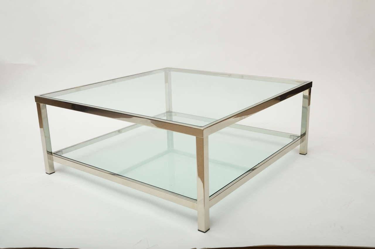 Coffee Table: Brilliant Chrome And Glass Coffee Table Design Ideas inside Modern Chrome Coffee Tables (Image 9 of 30)