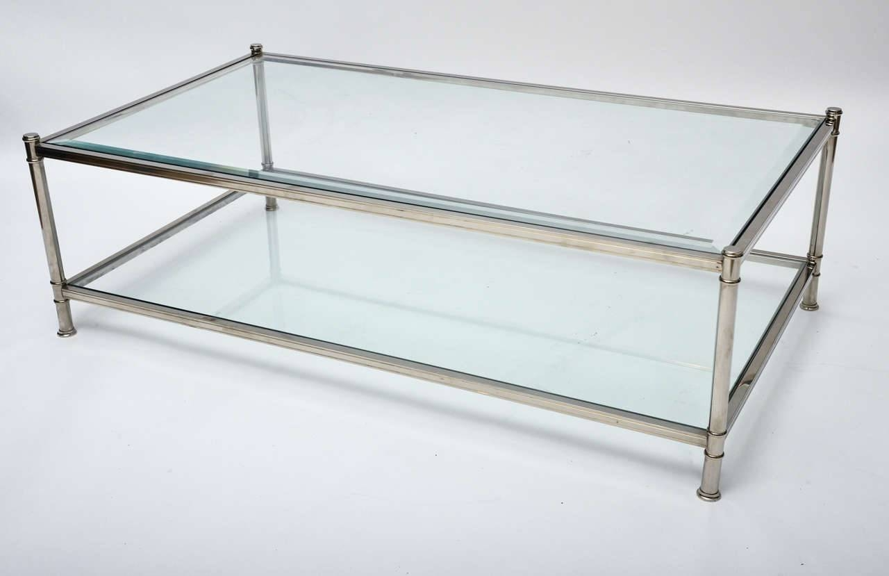 Coffee Table: Brilliant Chrome And Glass Coffee Table Design Ideas pertaining to Rectangle Glass Chrome Coffee Tables (Image 13 of 30)