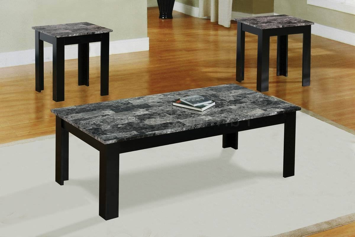 Coffee Table: Brilliant Marble Coffee Table Set Ideas White Marble Within Grey Coffee Table Sets (Photo 14 of 30)