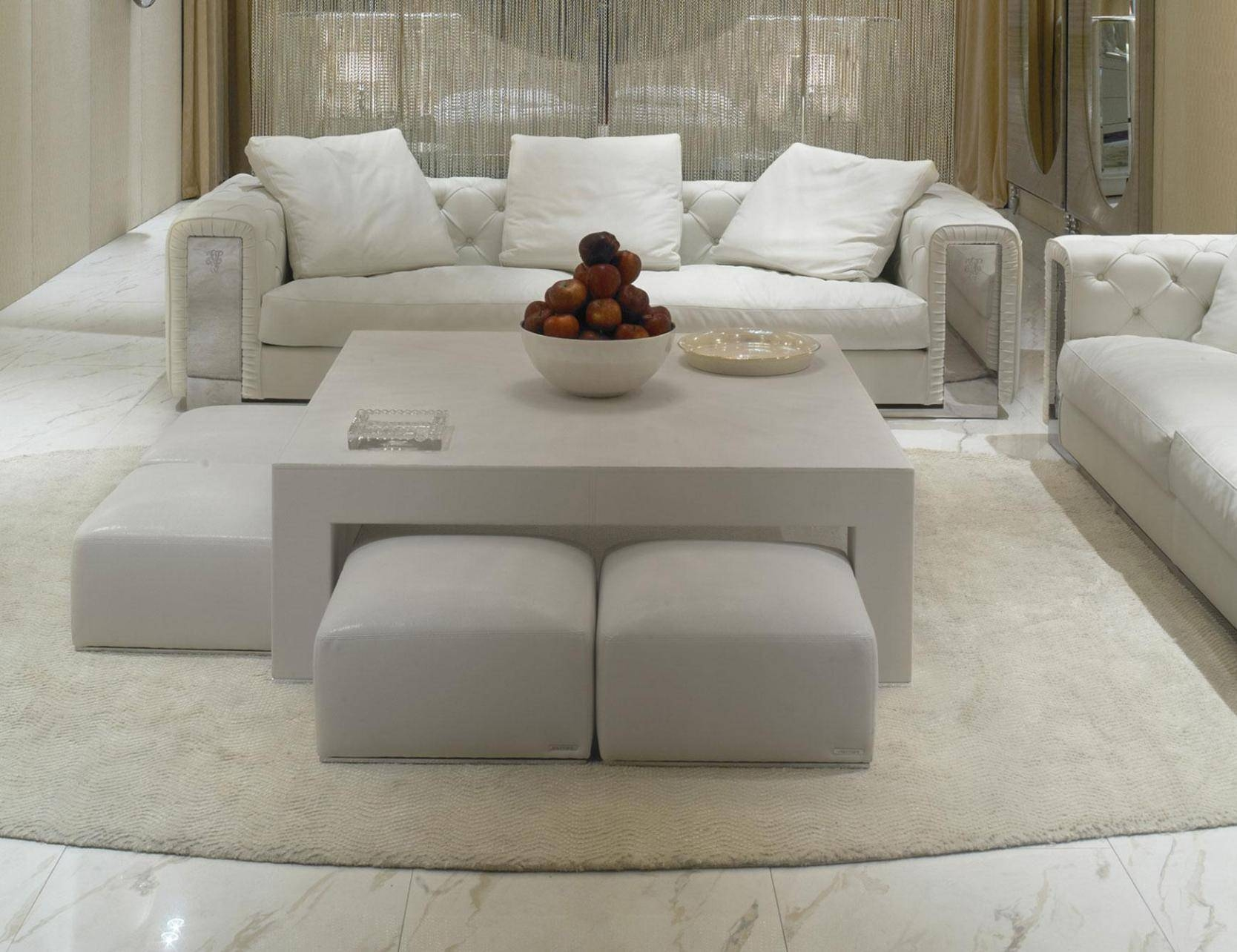 Coffee Table: Brilliant Upholstered Ottoman Coffee Table Design inside Round Upholstered Coffee Tables (Image 9 of 30)
