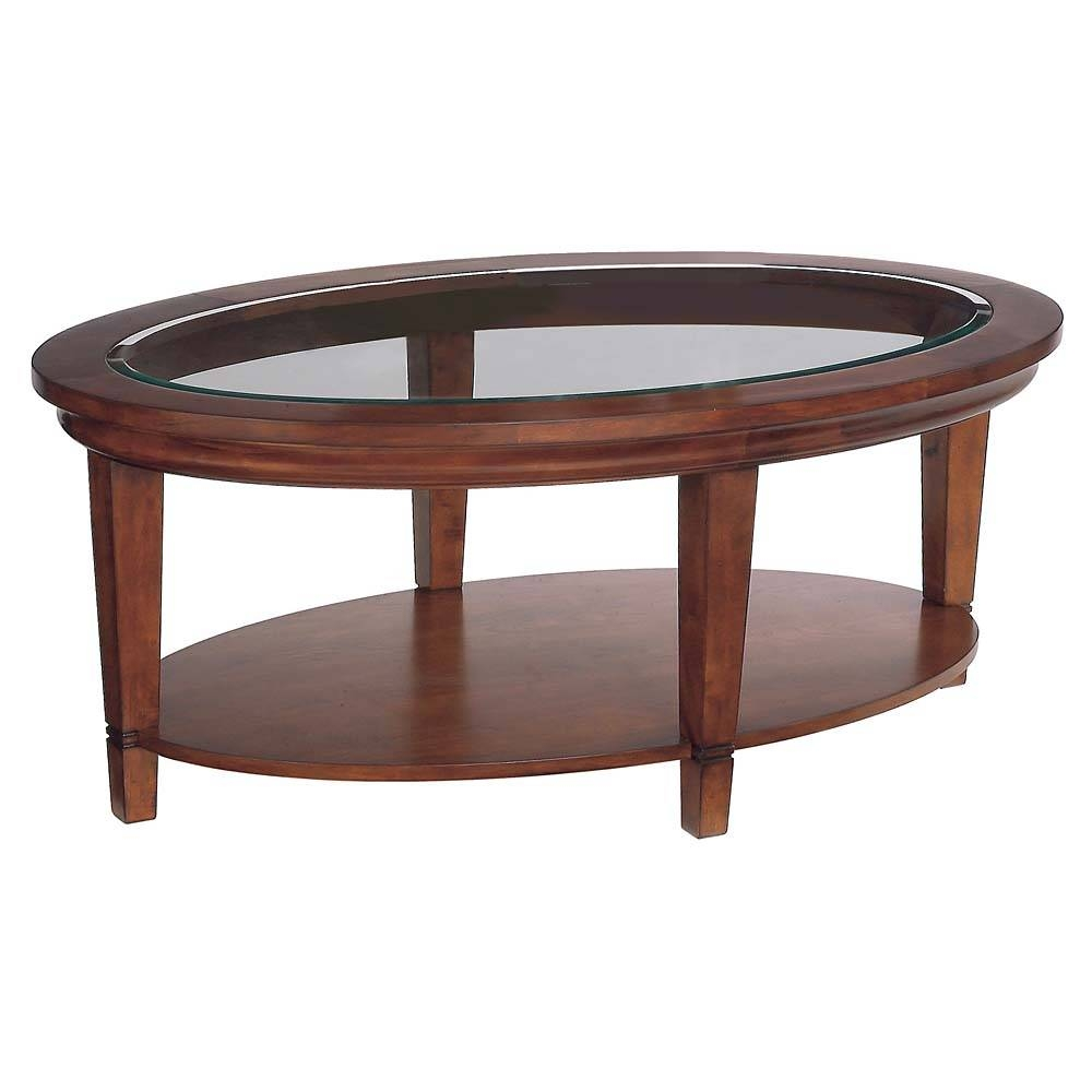 Coffee Table: Captivating Oval Wood Coffee Table Design Ideas Oval within Oval Wood Coffee Tables (Image 4 of 30)