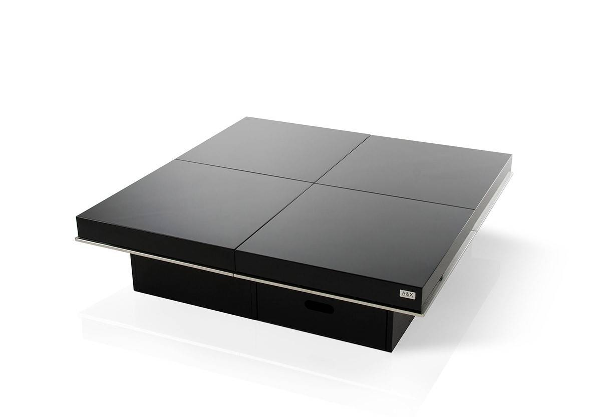 Coffee Table: Charming Black Modern Coffee Table Ideas Modern regarding Square Black Coffee Tables (Image 9 of 30)