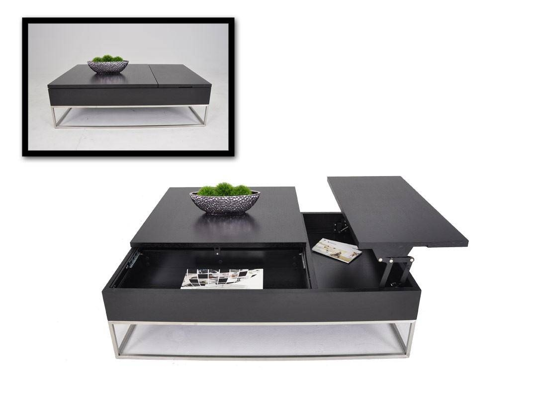Coffee Table: Charming Black Modern Coffee Table Ideas Modern within Black Coffee Tables With Storage (Image 10 of 30)