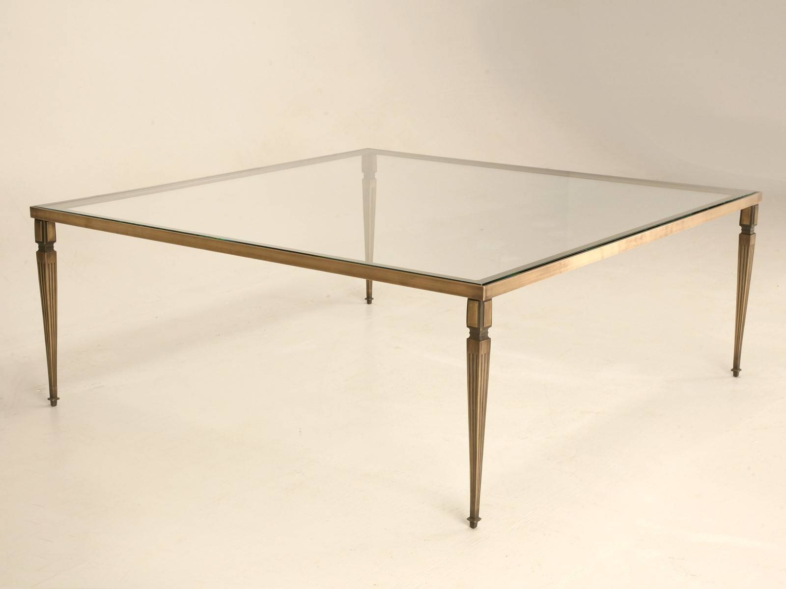 Coffee Table: Charming Bronze Coffee Table Designs Antique Bronze inside Large Square Glass Coffee Tables (Image 11 of 30)