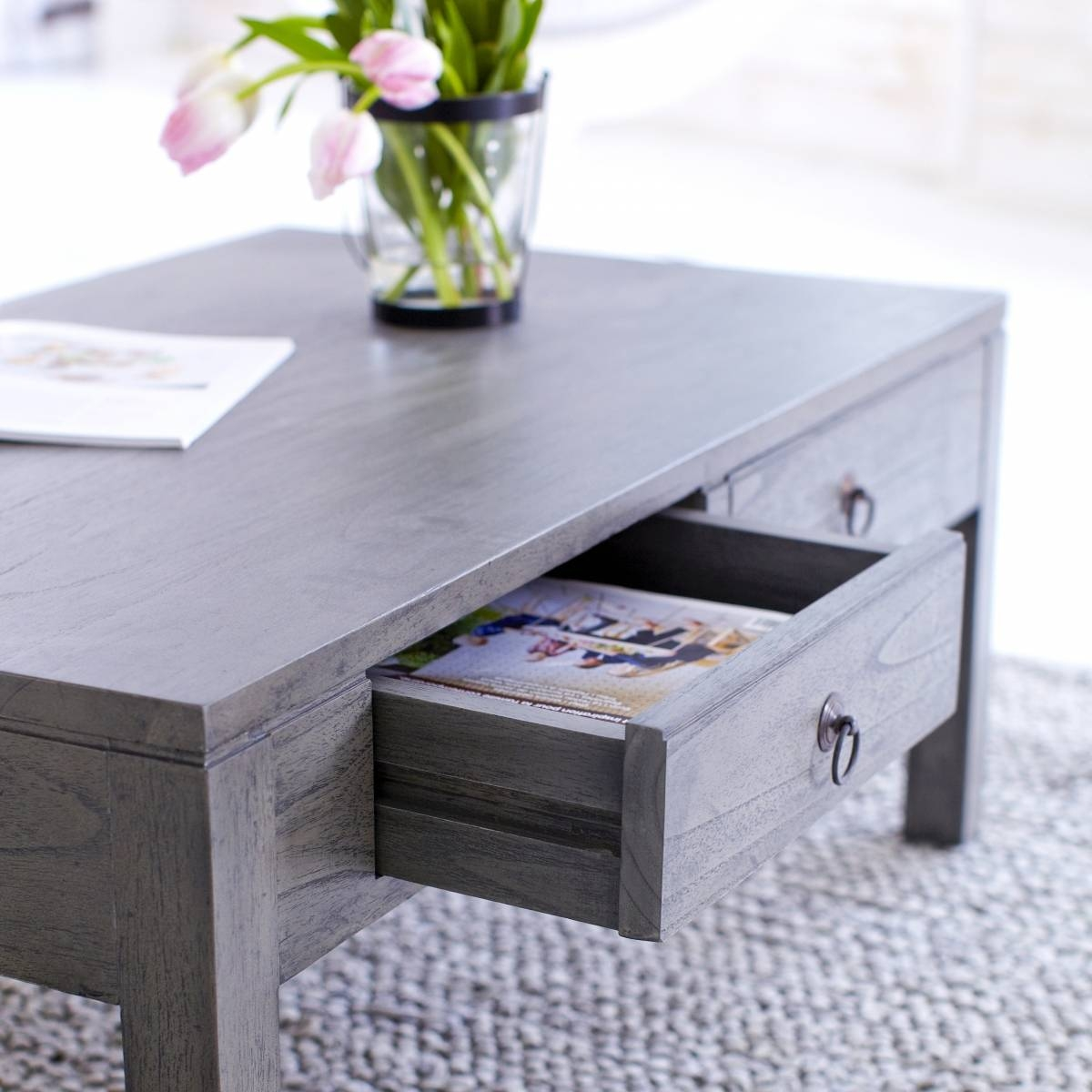 Coffee Table: Charming Gray Coffee Table Ideas Gray Coffee Table regarding Gray Wood Coffee Tables (Image 12 of 30)