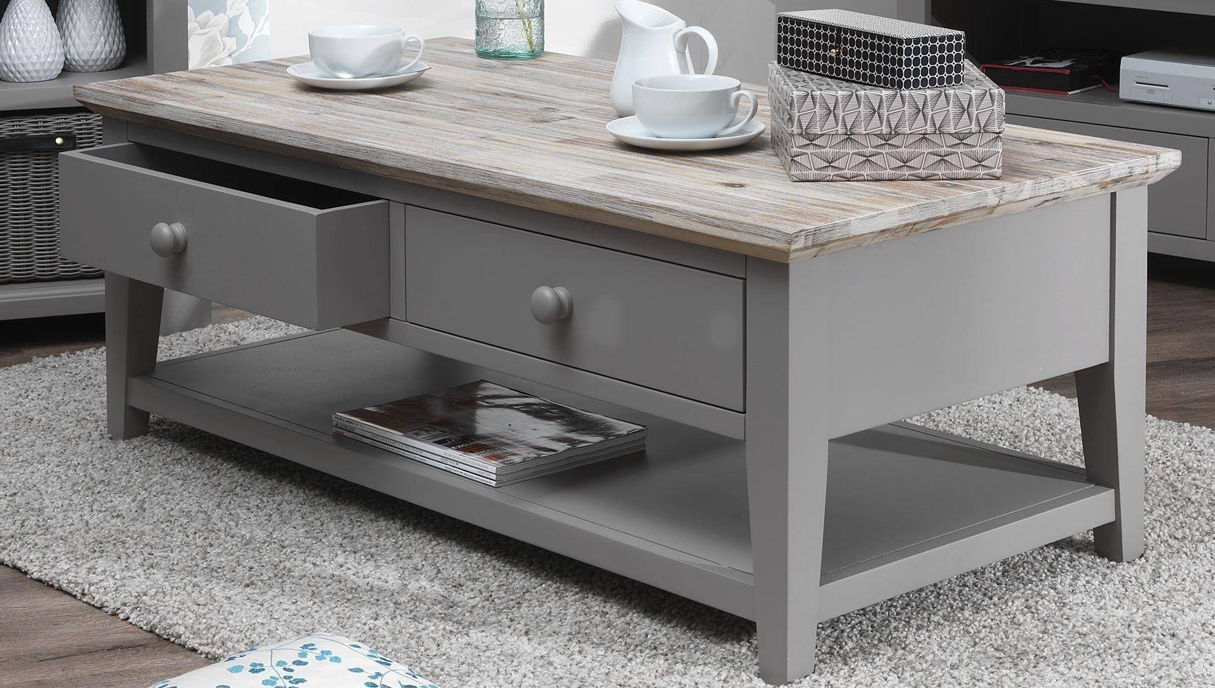 Coffee Table: Charming Gray Coffee Table Ideas Modern Gray Coffee within Grey Coffee Tables (Image 10 of 30)