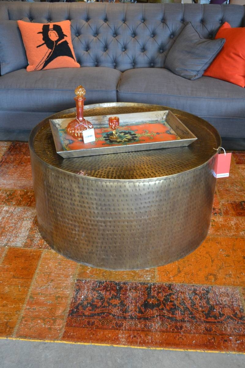 Coffee Table: Charming Hammered Metal Coffee Table Ideas Hammered inside Hammered Silver Coffee Tables (Image 6 of 30)