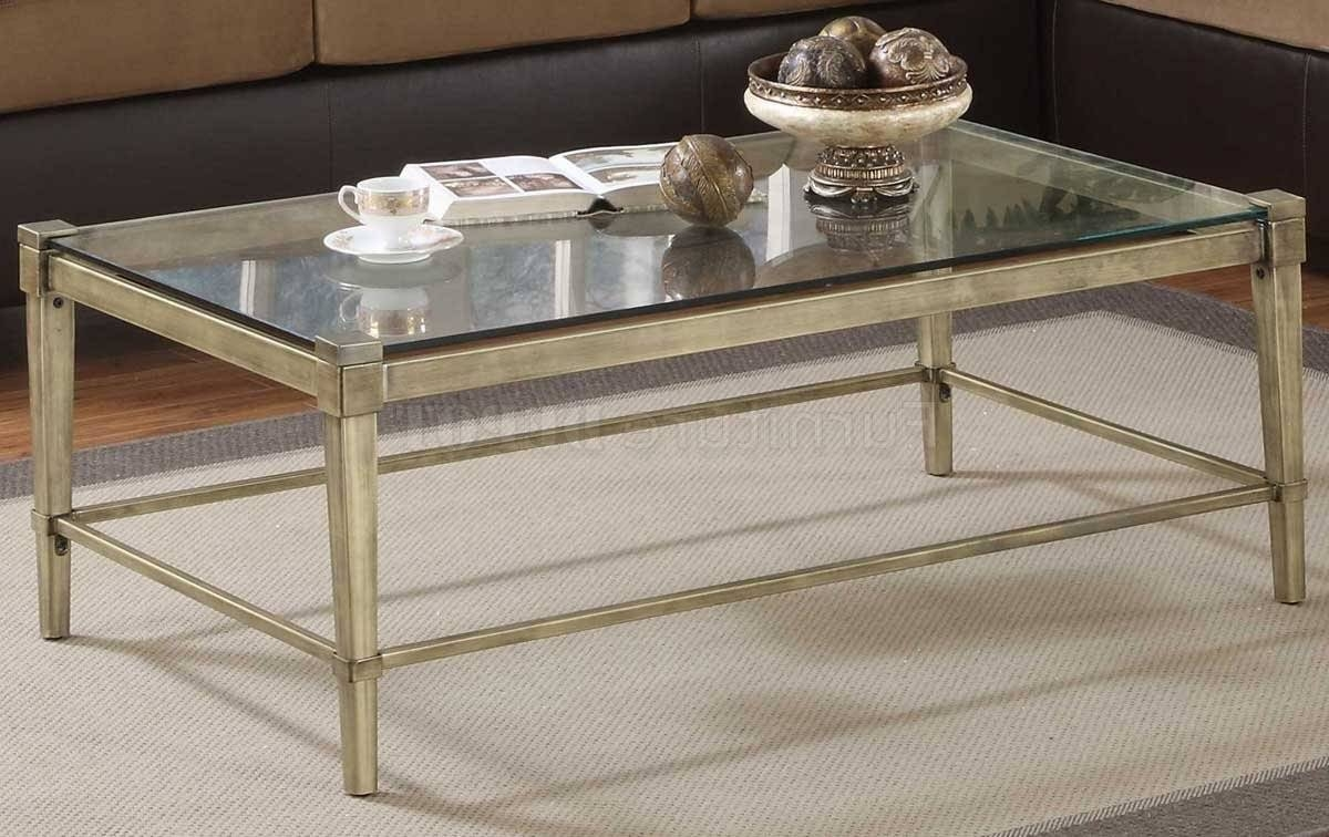 Coffee Table: Charming Iron Glass Coffee Table Sets Wrought Iron with regard to Metal Coffee Tables With Glass Top (Image 7 of 31)