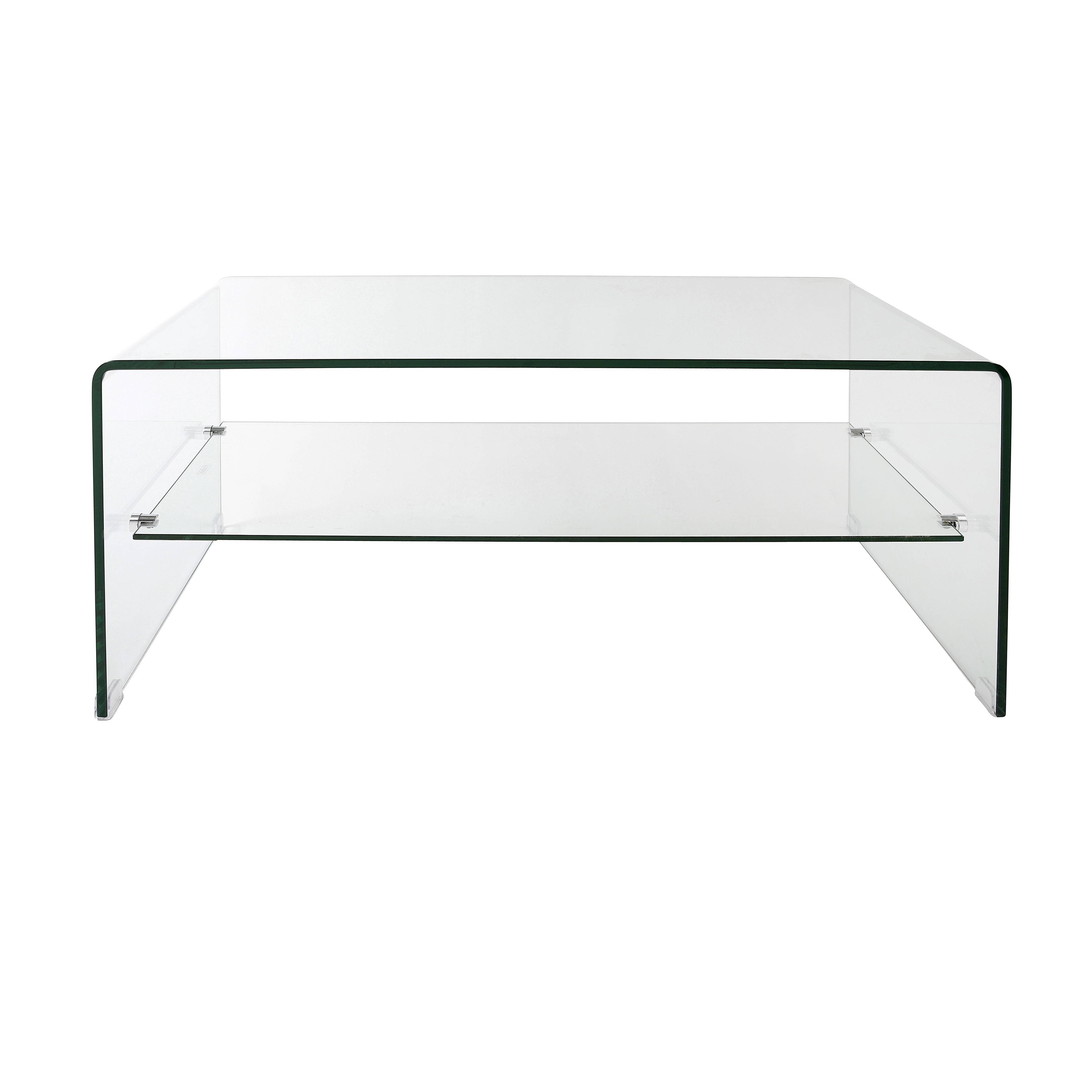 Coffee Table: Chic Glass Modern Coffee Table Ideas Contemporary for Glass Coffee Tables With Shelf (Image 6 of 30)