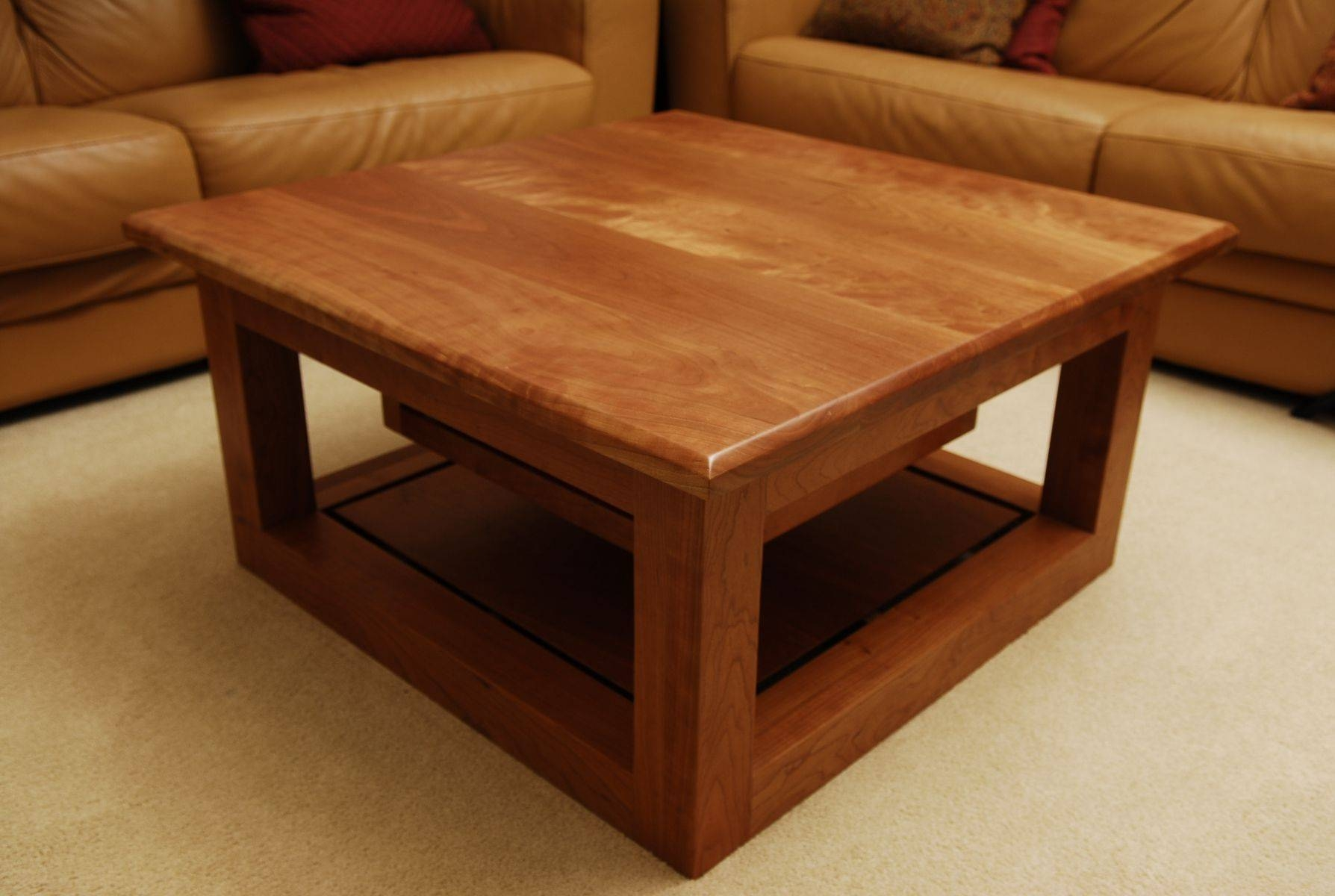 Coffee Table: Classic Cherry Coffee Table Set Cherry Finish Coffee for Cherry Wood Coffee Table Sets (Image 16 of 30)