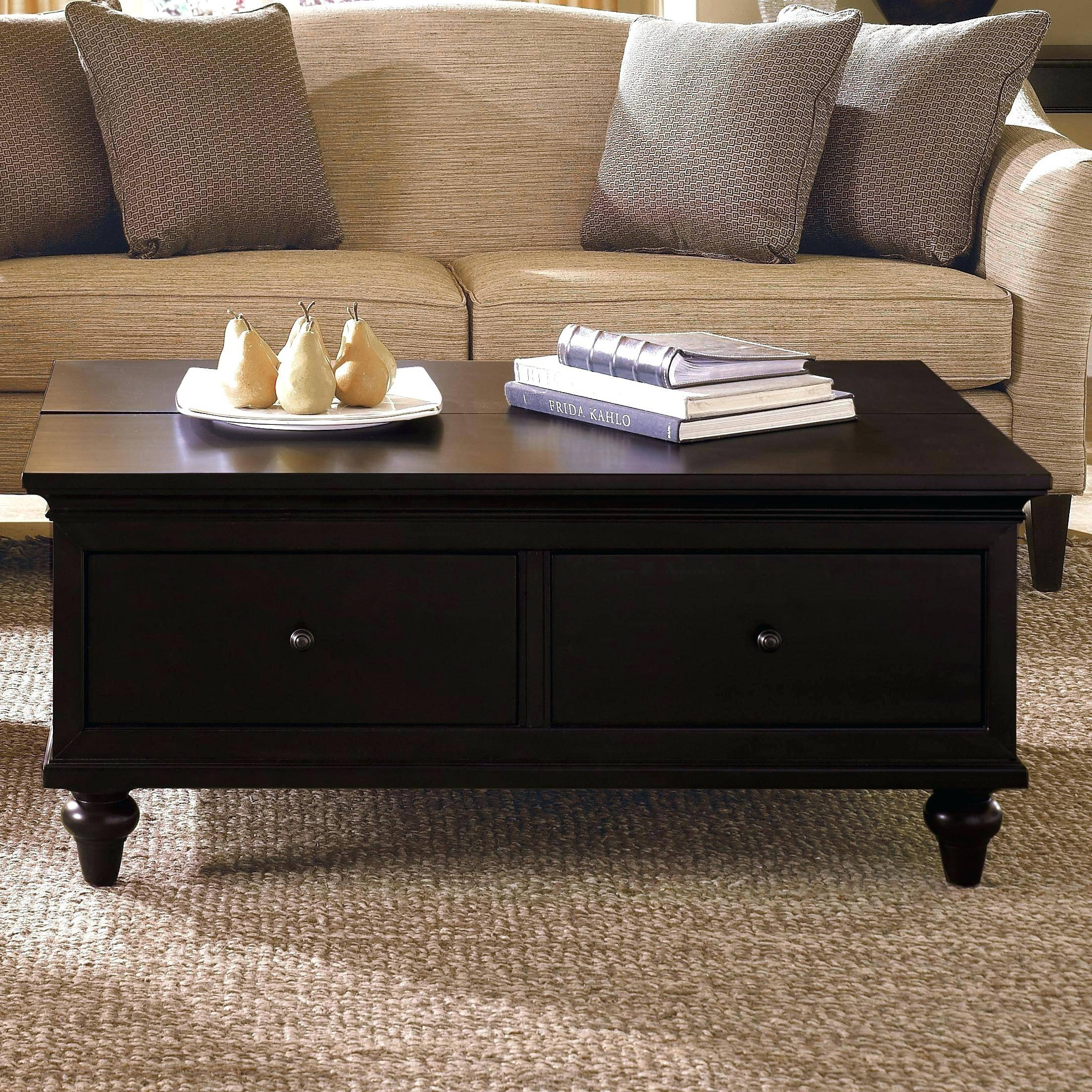 Coffee Table ~ Coffee Table Furniture Amusing Rustic Wood Storage With Cream Coffee Tables With Drawers (View 4 of 25)