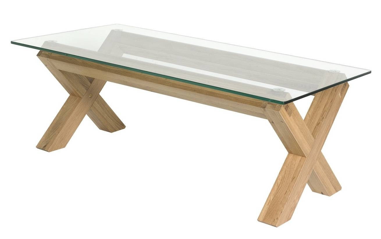 Coffee Table Contemporary Glass Oak – Cocinacentral.co in Glass and Oak Coffee Tables (Image 5 of 30)