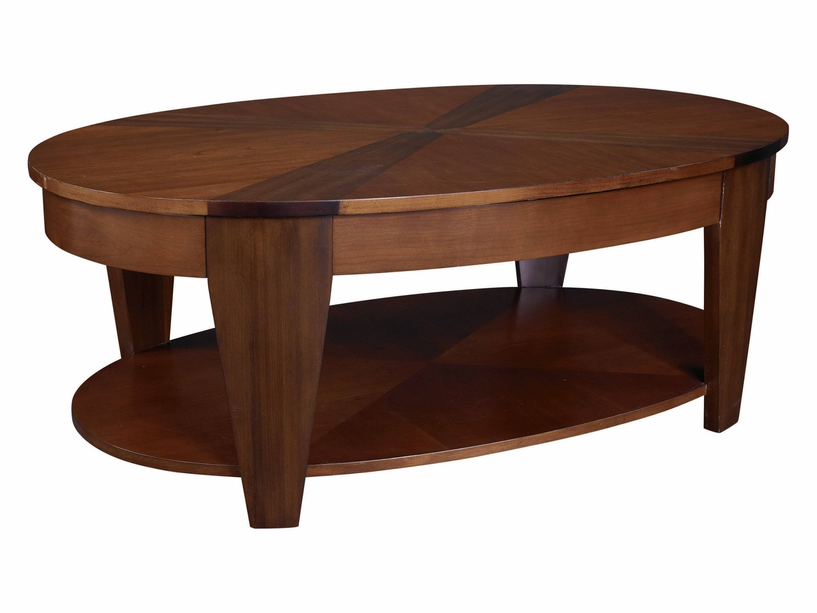 Coffee Table: Contemporary Rustic Wood Coffee Table Coffee Tables within Oval Wood Coffee Tables (Image 5 of 30)