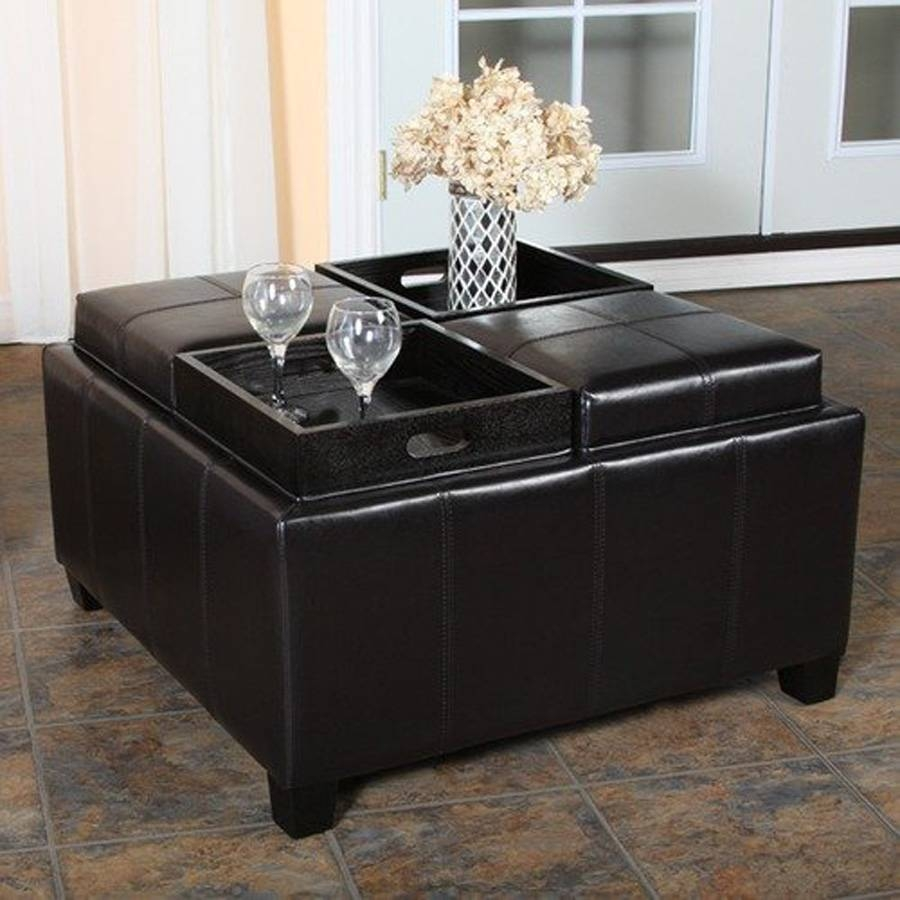 Coffee Table: Cool Black Ottoman Coffee Table Design Ideas Ottoman in Coffee Tables With Storage (Image 8 of 30)