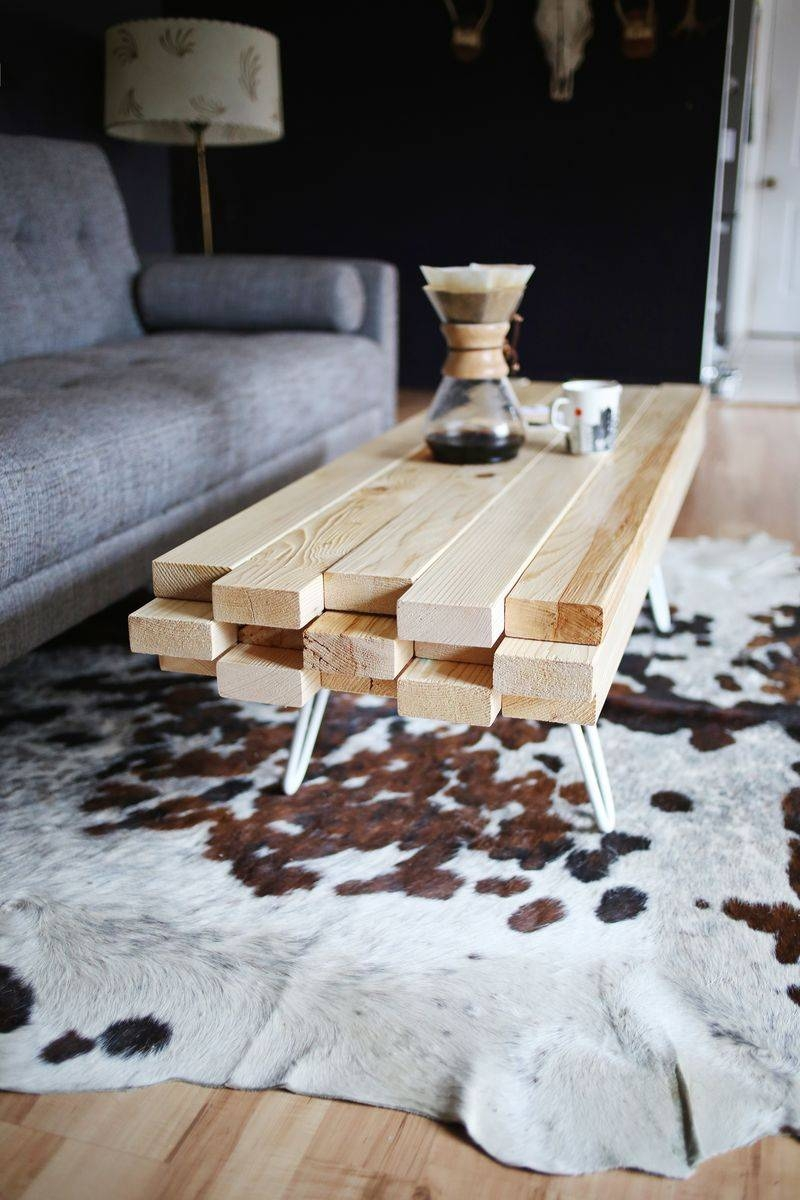 Coffee Table. Cozy 2X4 Coffee Table Ideas: Inspiring Cream Square with regard to Oak And Cream Coffee Tables (Image 7 of 30)