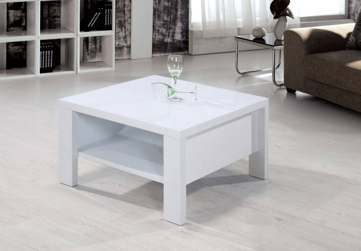 Coffee Table: Cozy Small White Coffee Table Designs Round Coffee within Square White Coffee Tables (Image 3 of 30)
