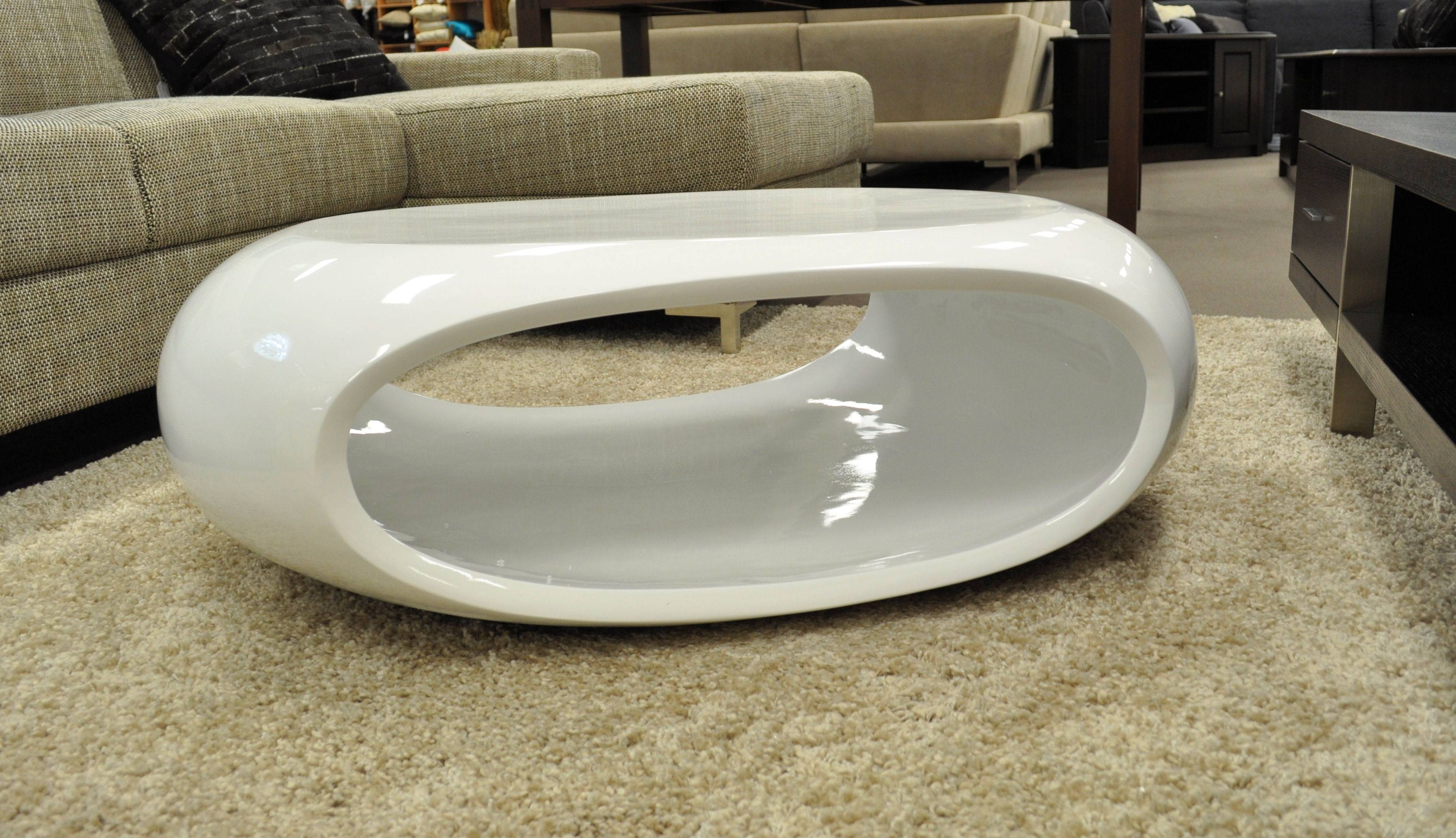 Coffee Table: Cozy Small White Coffee Table Designs White Lacquer for Oval Gloss Coffee Tables (Image 11 of 30)