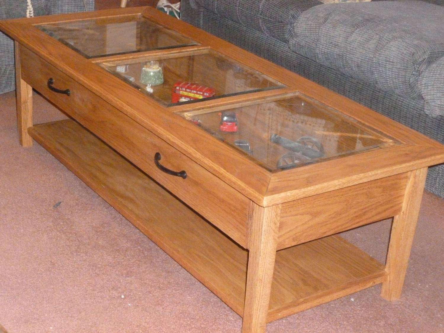 Coffee Table Display Case Glass Top Ikea | Coffee Tables Decoration Within Coffee Tables With Glass Top Display Drawer (View 4 of 30)