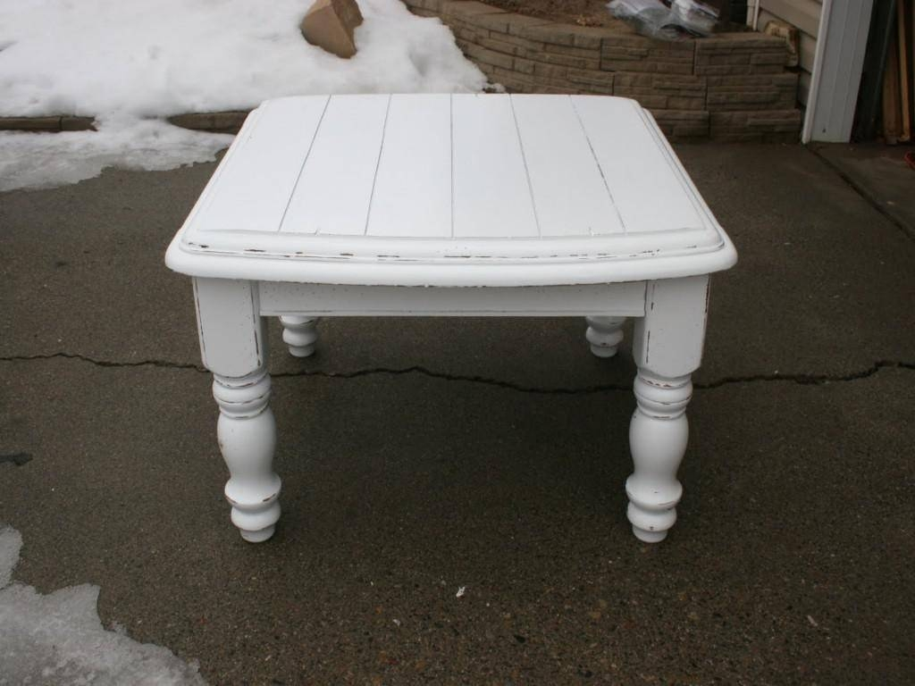 Coffee Table: Distressed White Coffee Table Ideas Distressed End inside White French Coffee Tables (Image 13 of 30)