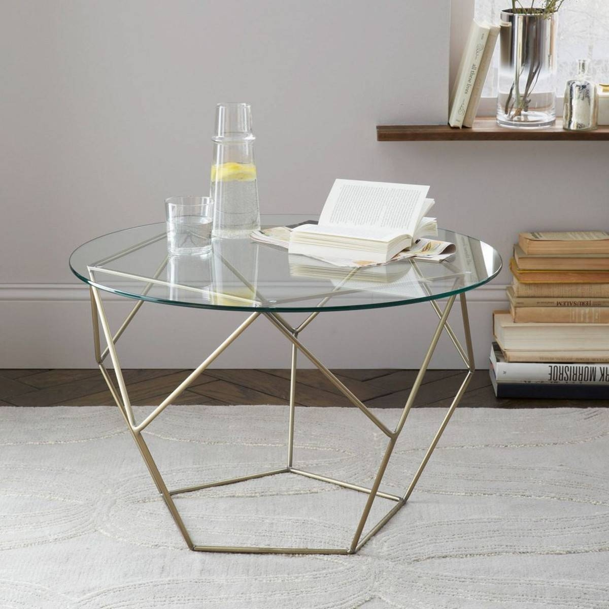 Coffee Table: Enchanting Round Glass Coffee Tables For Sale Round inside Antique Glass Coffee Tables (Image 11 of 30)
