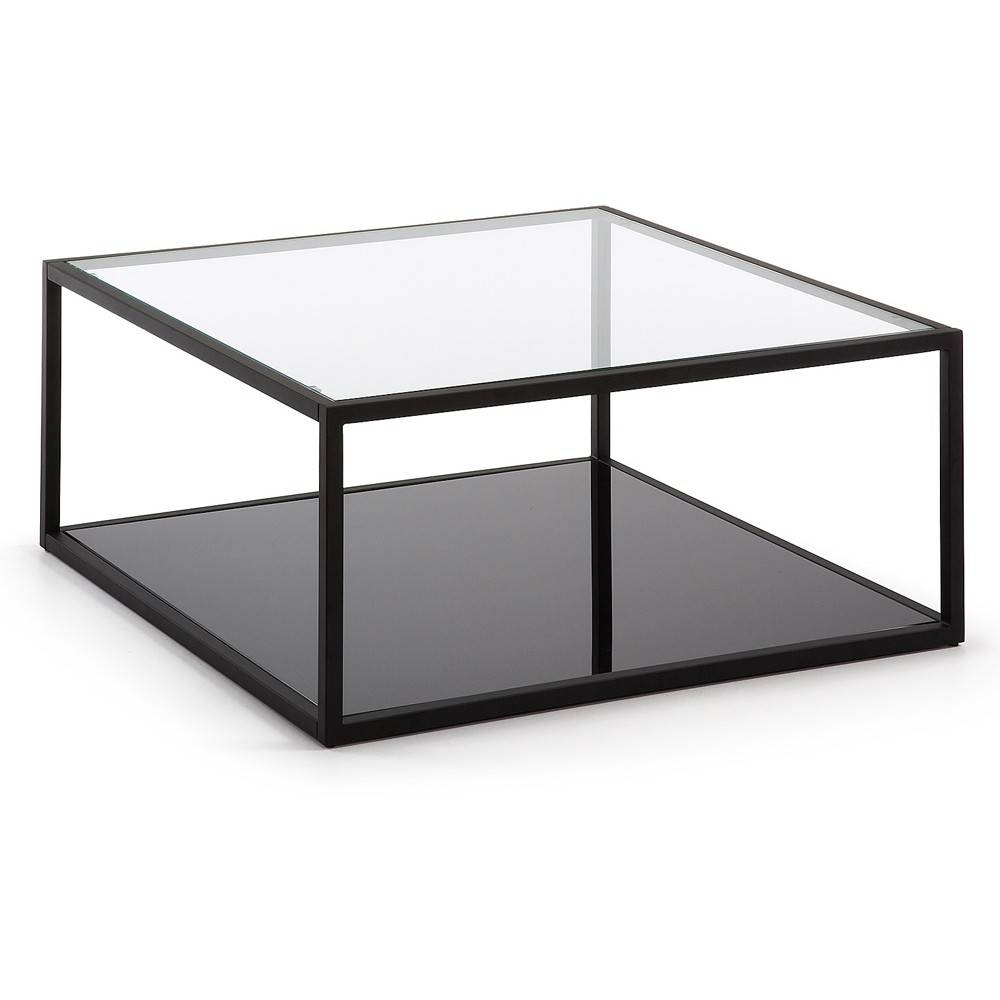 Coffee Table: Enchanting Square Glass Coffee Table Design Ideas pertaining to Glass Coffee Tables With Storage (Image 13 of 30)