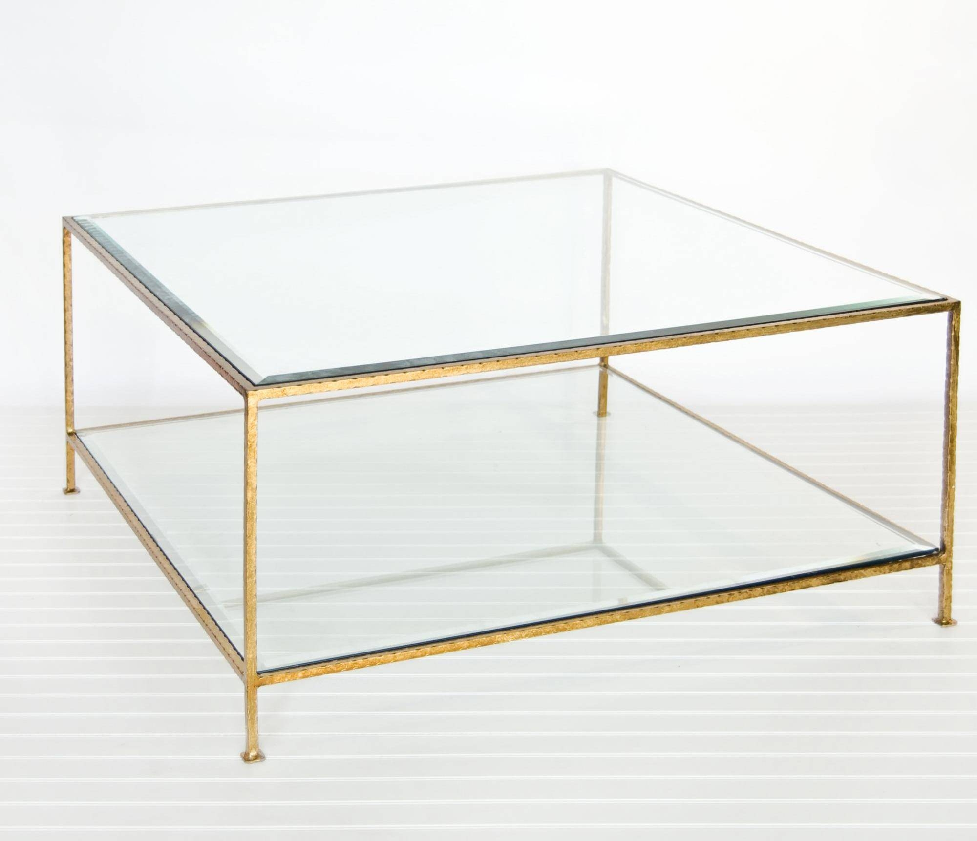 Coffee Table: Enchanting Square Glass Coffee Table Design Ideas throughout Metal Glass Coffee Tables (Image 5 of 30)