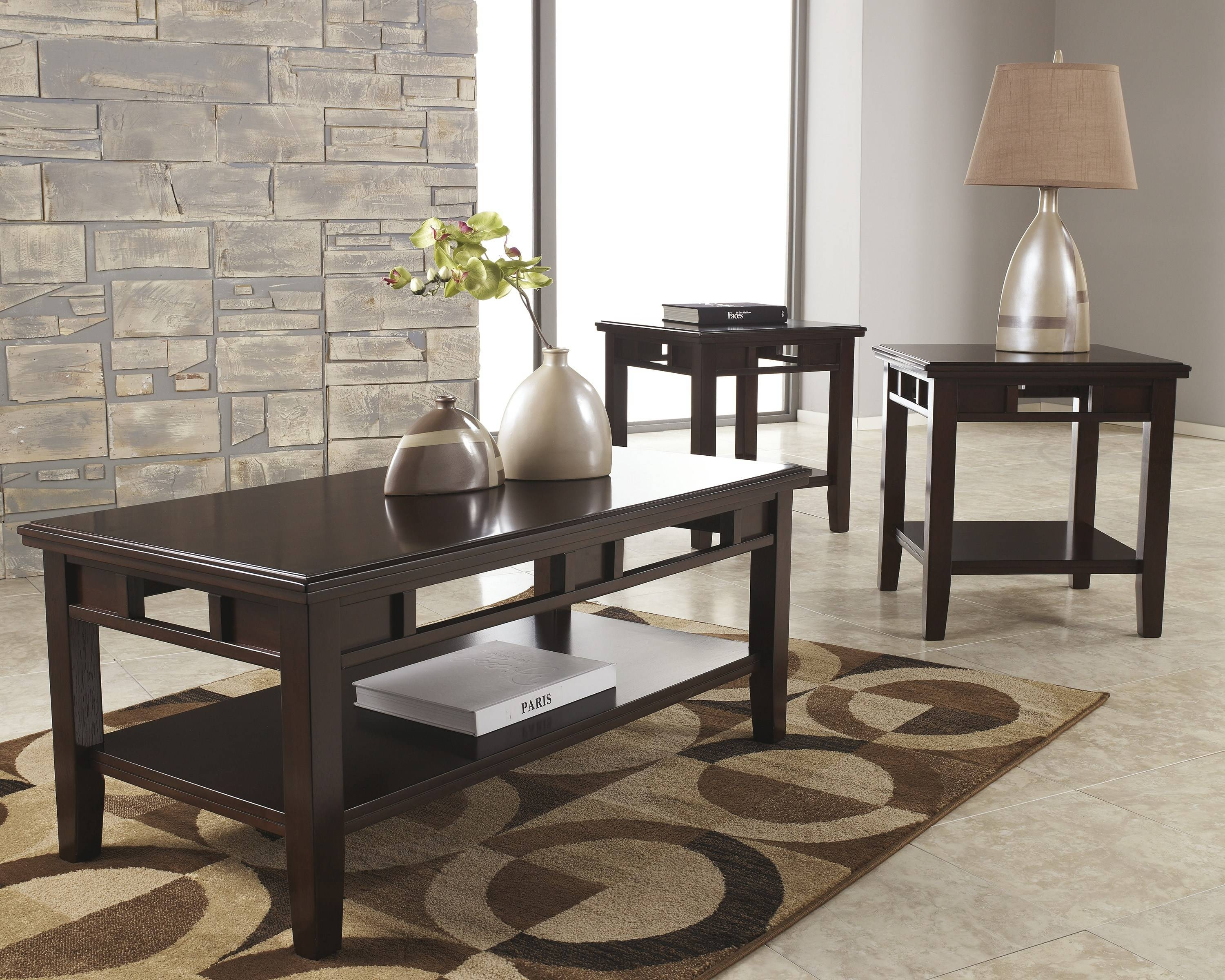 Coffee Table End Table Set – 3Pc Coffee Table & End Table Set in Tv Stand Coffee Table Sets (Image 10 of 30)