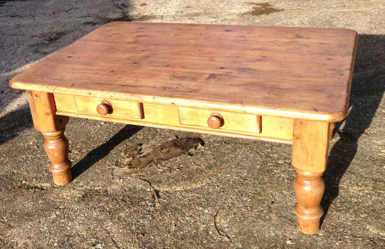 Coffee Table ~ English Antique Primitive Pine Coffee Table with regard to Square Pine Coffee Tables (Image 5 of 30)