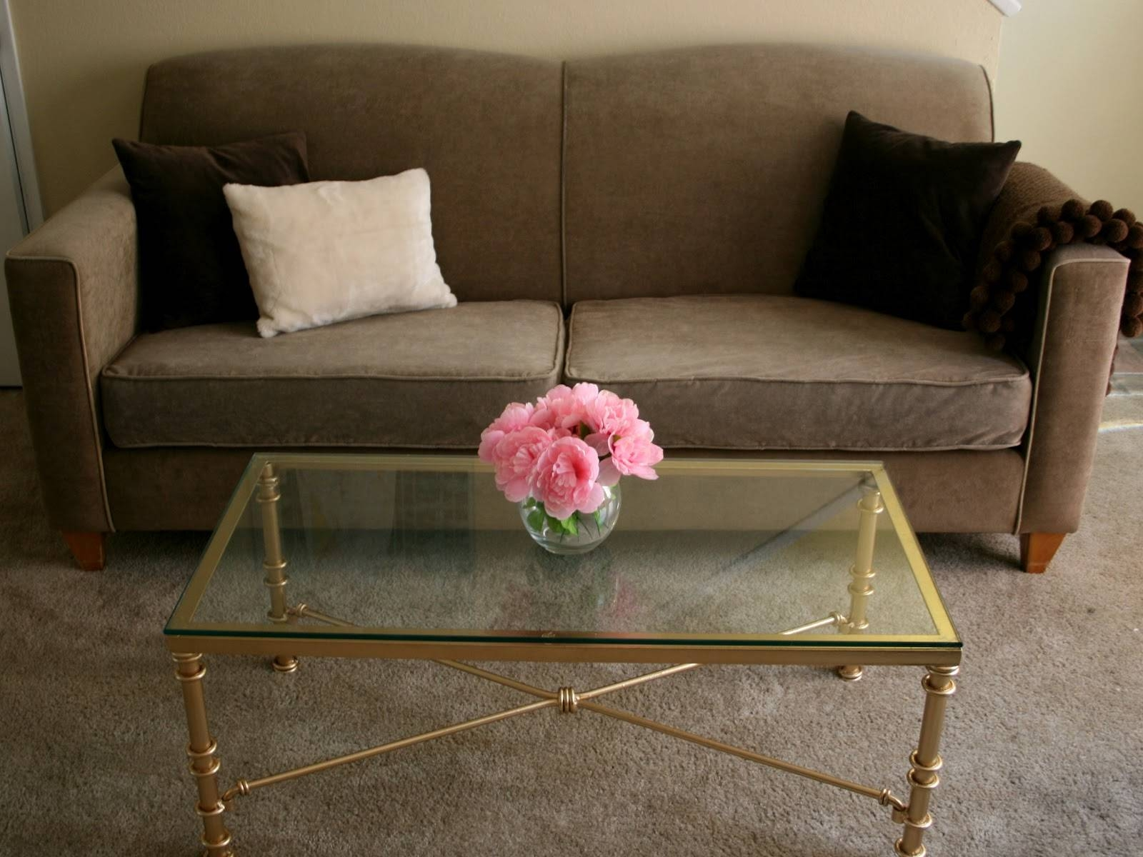 Coffee Table: Excellent Gold Metal Coffee Table Designs Metal And regarding Glass Gold Coffee Tables (Image 8 of 30)