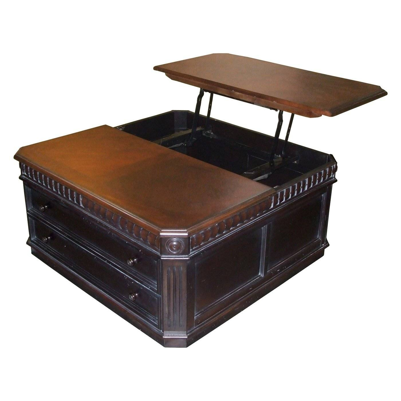 Coffee Table: Excellent Square Lift Top Coffee Table Designs Pull regarding Pull Up Coffee Tables (Image 11 of 30)