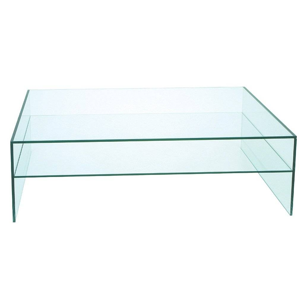 Coffee Table: Exciting Rectangle Glass Coffee Table Uk Glass for Glass Coffee Tables With Shelf (Image 8 of 30)