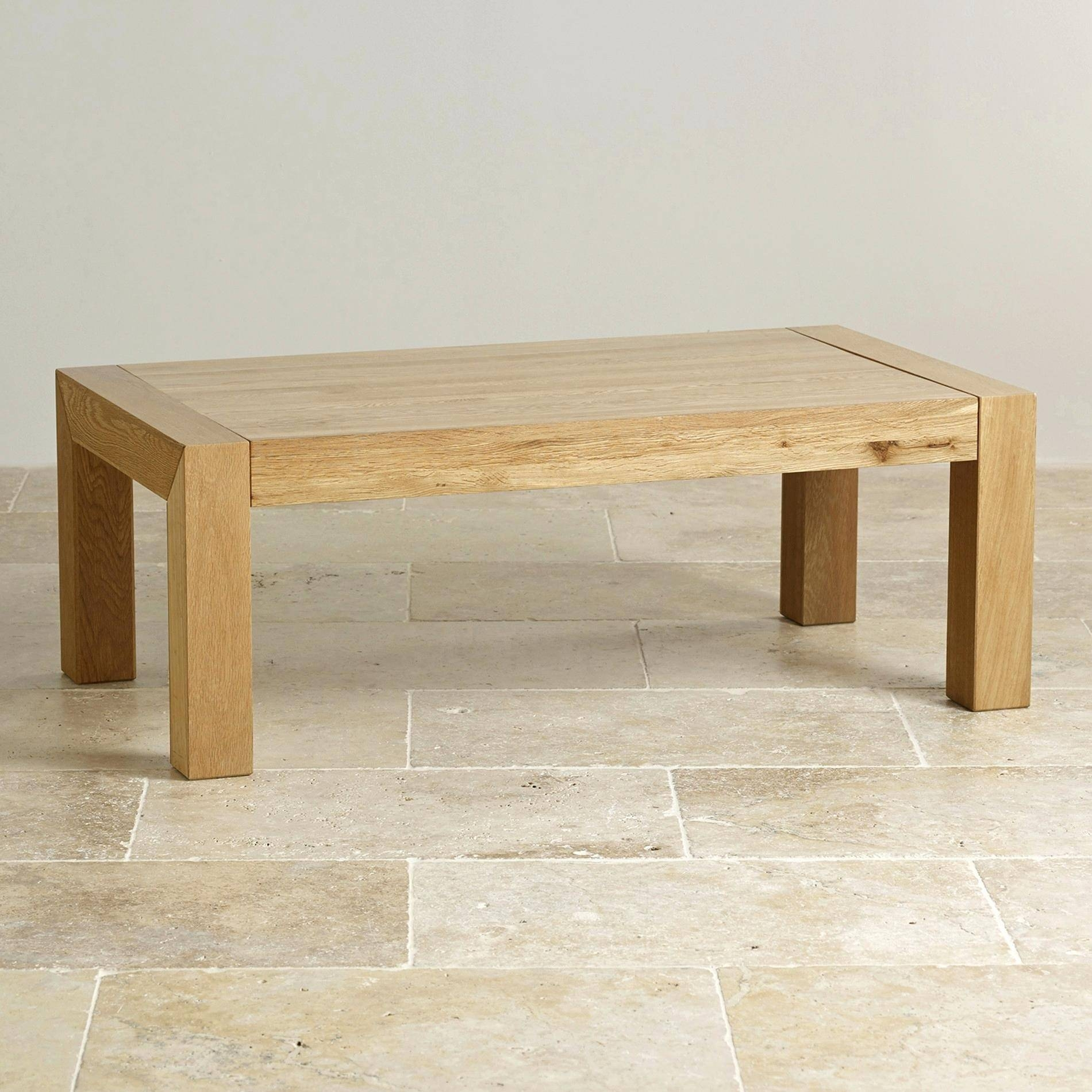 Coffee Table ~ Express Delivery Fresco Natural Solid Oak Coffee for Rounded Corner Coffee Tables (Image 10 of 30)