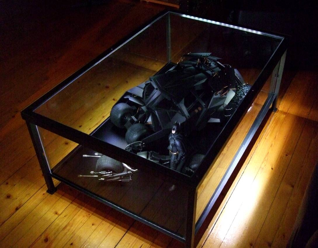 Coffee Table: Extraordinary Display Case Coffee Table Ideas Glass pertaining to Glass Top Display Coffee Tables With Drawers (Image 13 of 30)