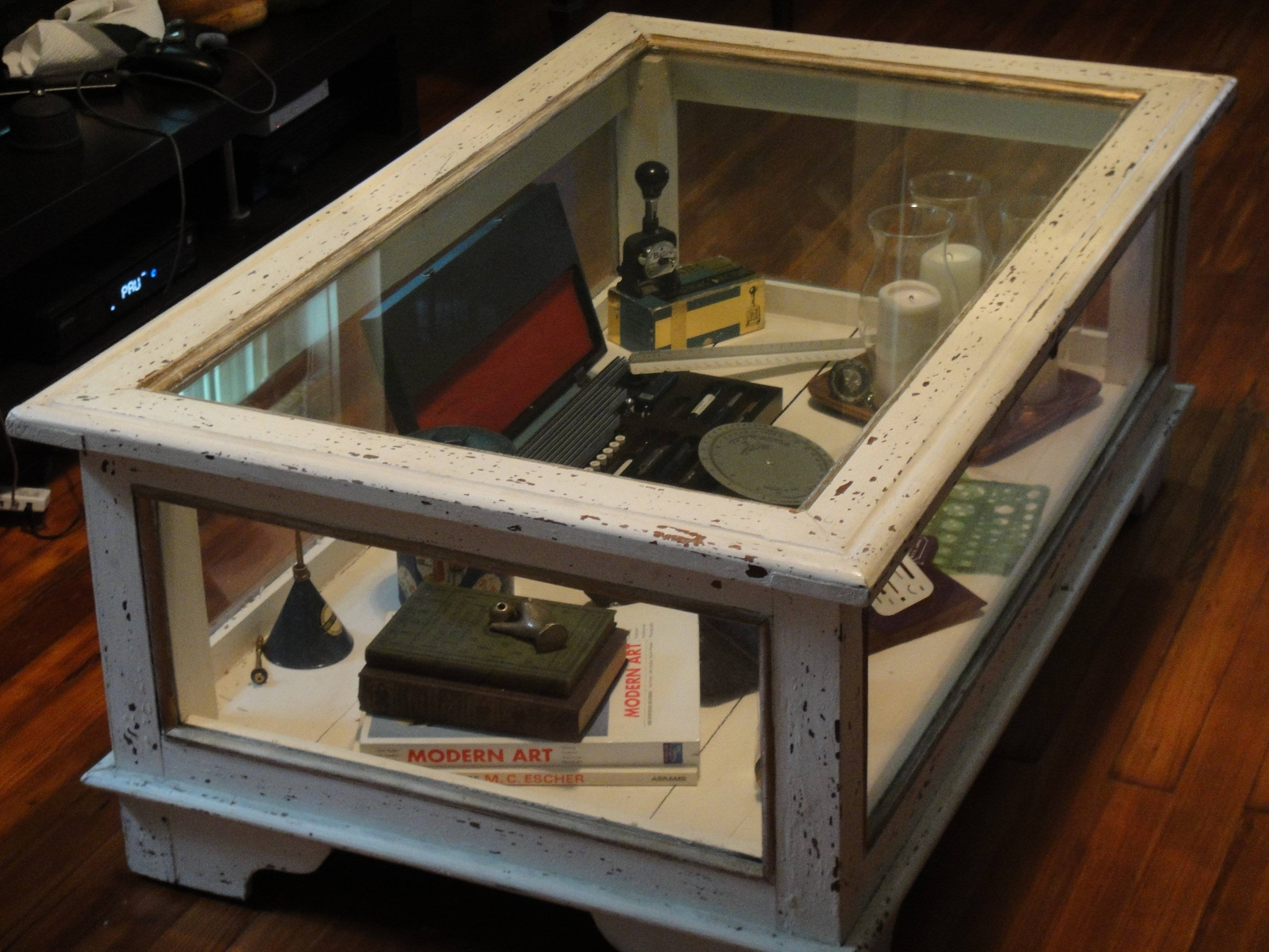 Coffee Table: Extraordinary Display Case Coffee Table Ideas Glass with regard to Glass Top Display Coffee Tables With Drawers (Image 14 of 30)