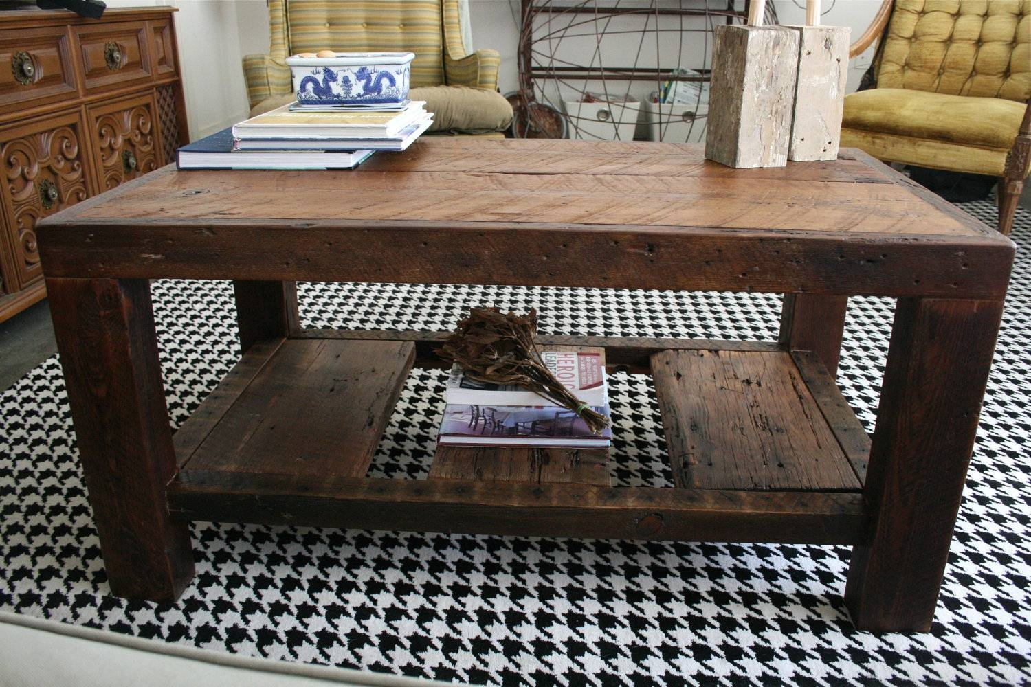 Coffee Table. Extraordinary Diy Rustic Coffee Table Ideas with regard to Rustic Storage Diy Coffee Tables (Image 5 of 30)