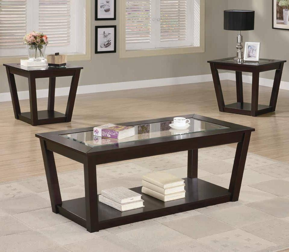 Coffee Table: Extraordinary Glass Coffee Table Walmart Sets Glass in Cheap Wood Coffee Tables (Image 8 of 30)