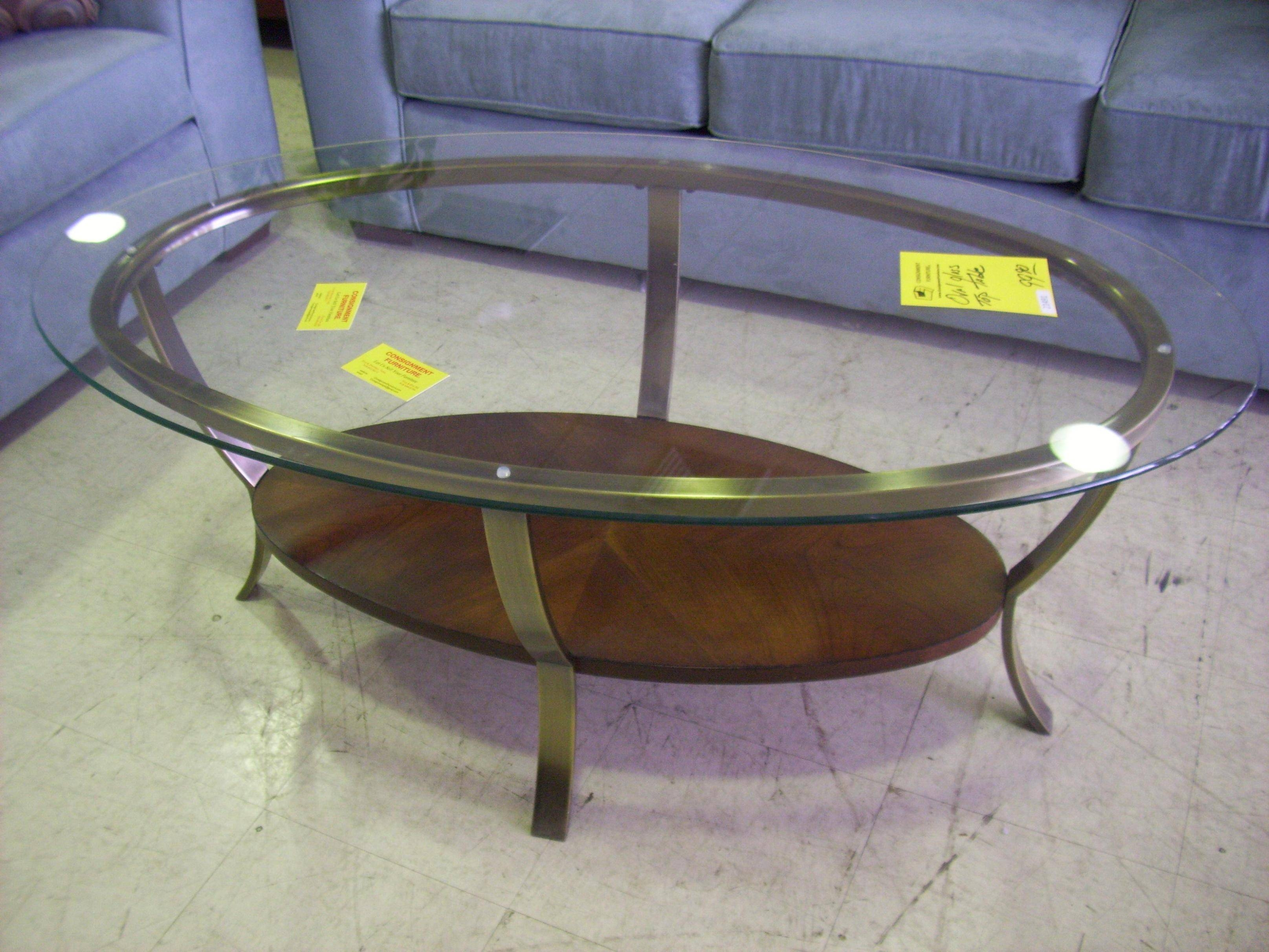 Coffee Table: Extraordinary Glass For Coffee Table Design Ideas pertaining to Oval Glass and Wood Coffee Tables (Image 5 of 30)